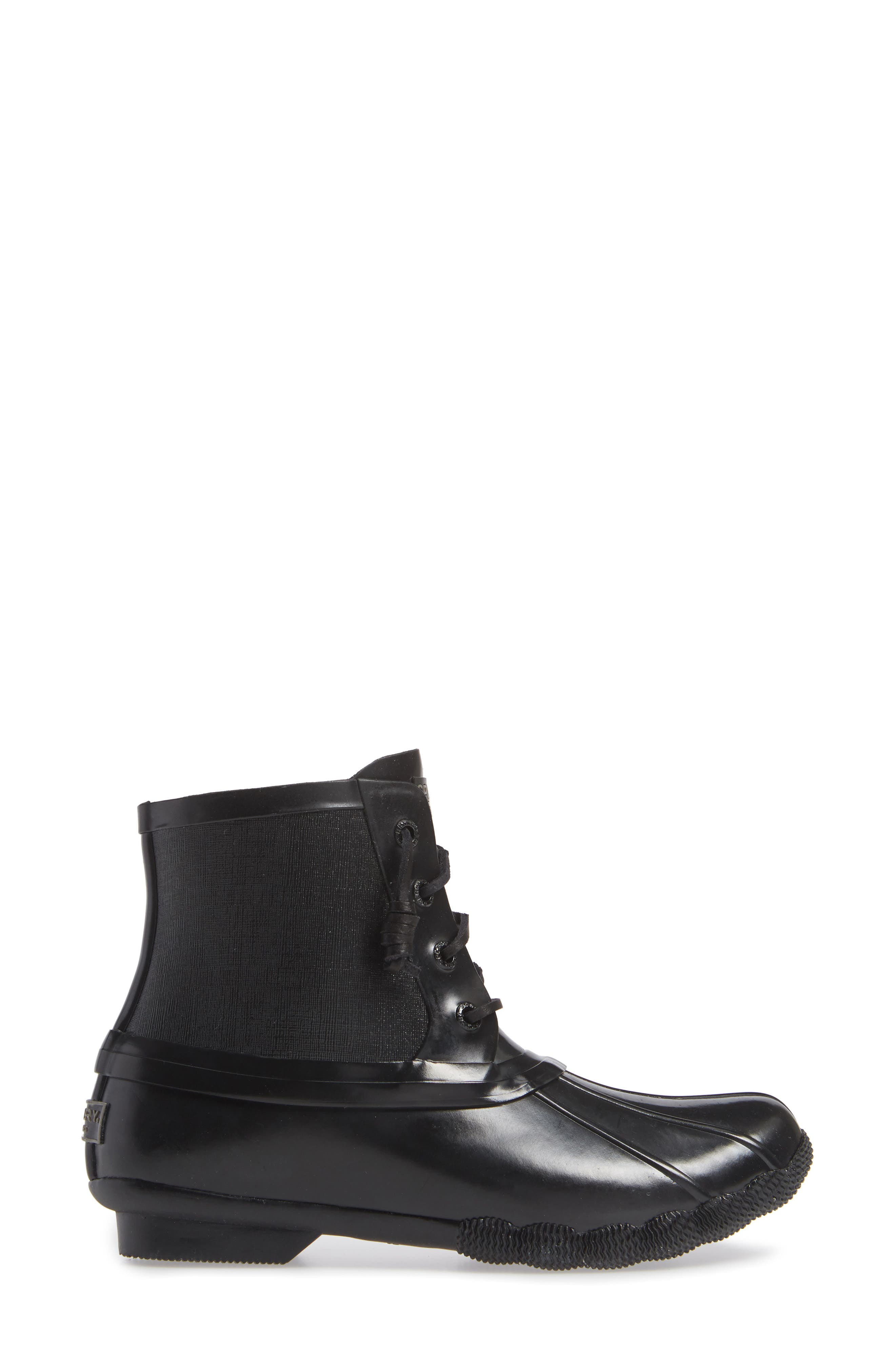 Flooded Rubber Saltwater Bootie,                             Alternate thumbnail 3, color,                             BLACK