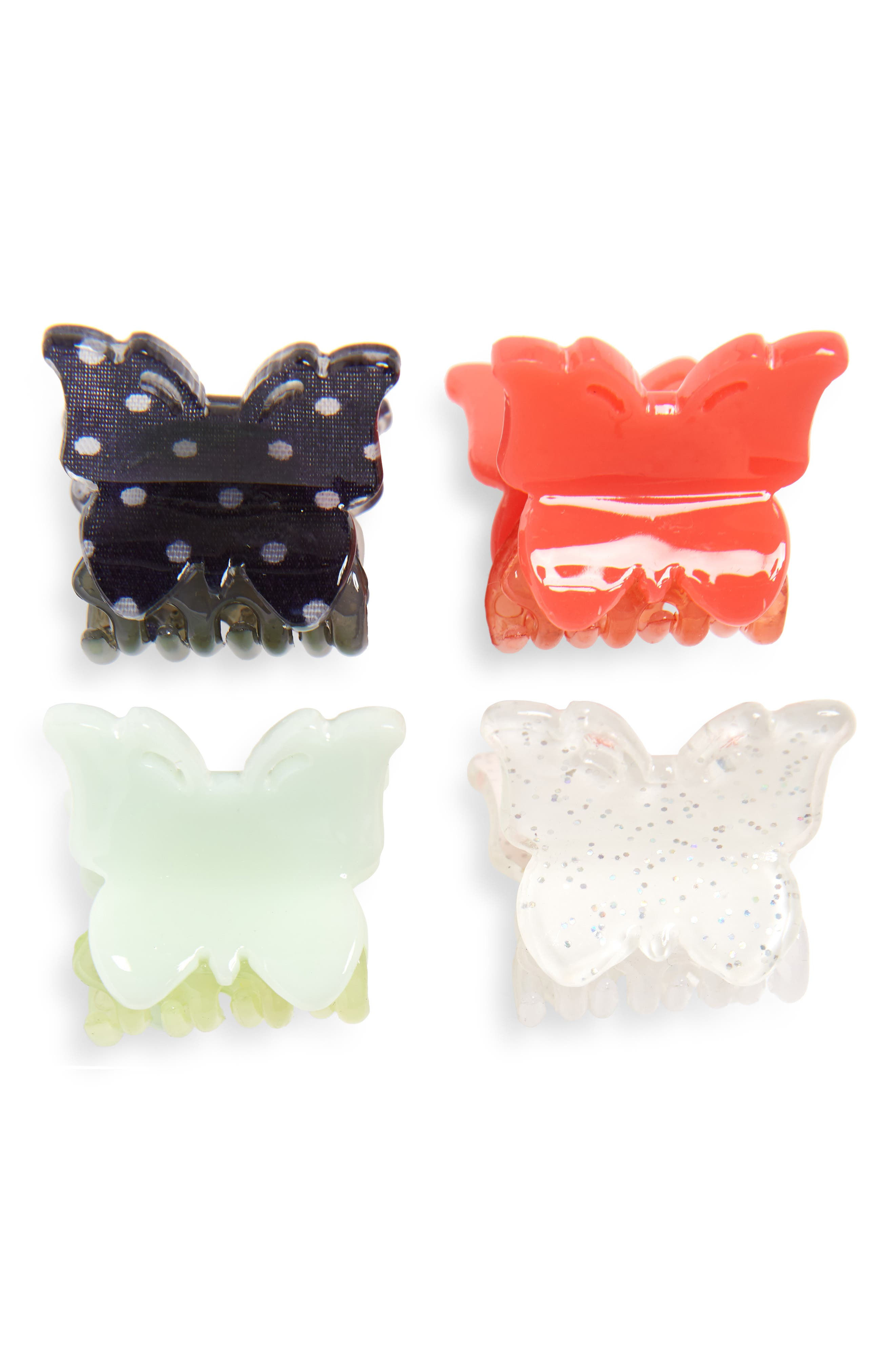 Set of 4 Butterfly Clip Set,                             Main thumbnail 1, color,