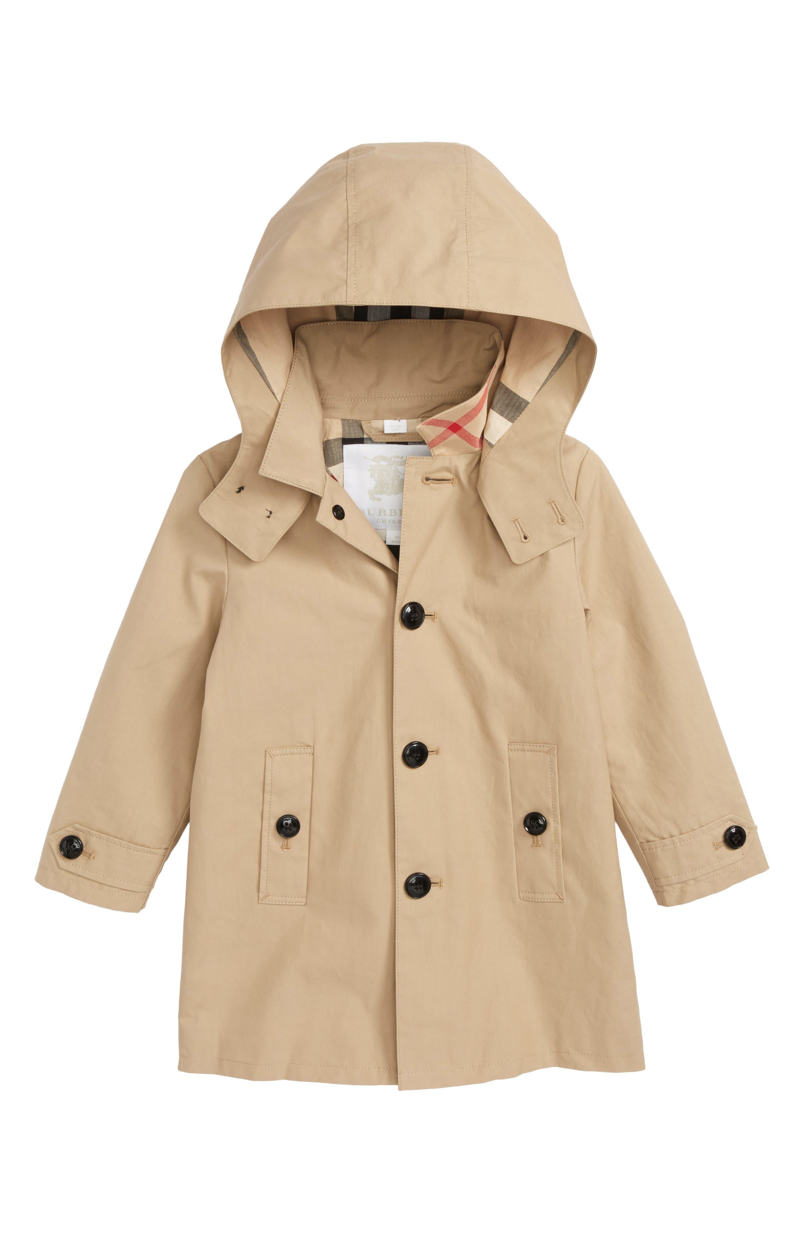 Bradley Hooded Trench Coat,                         Main,                         color, HONEY
