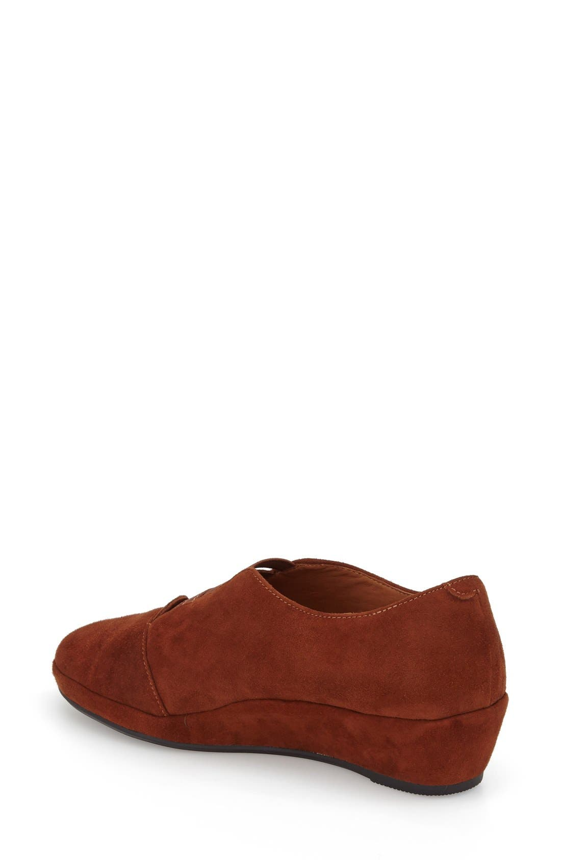 'Beziers' Slip-On,                             Alternate thumbnail 2, color,                             BRANDY SUEDE LEATHER