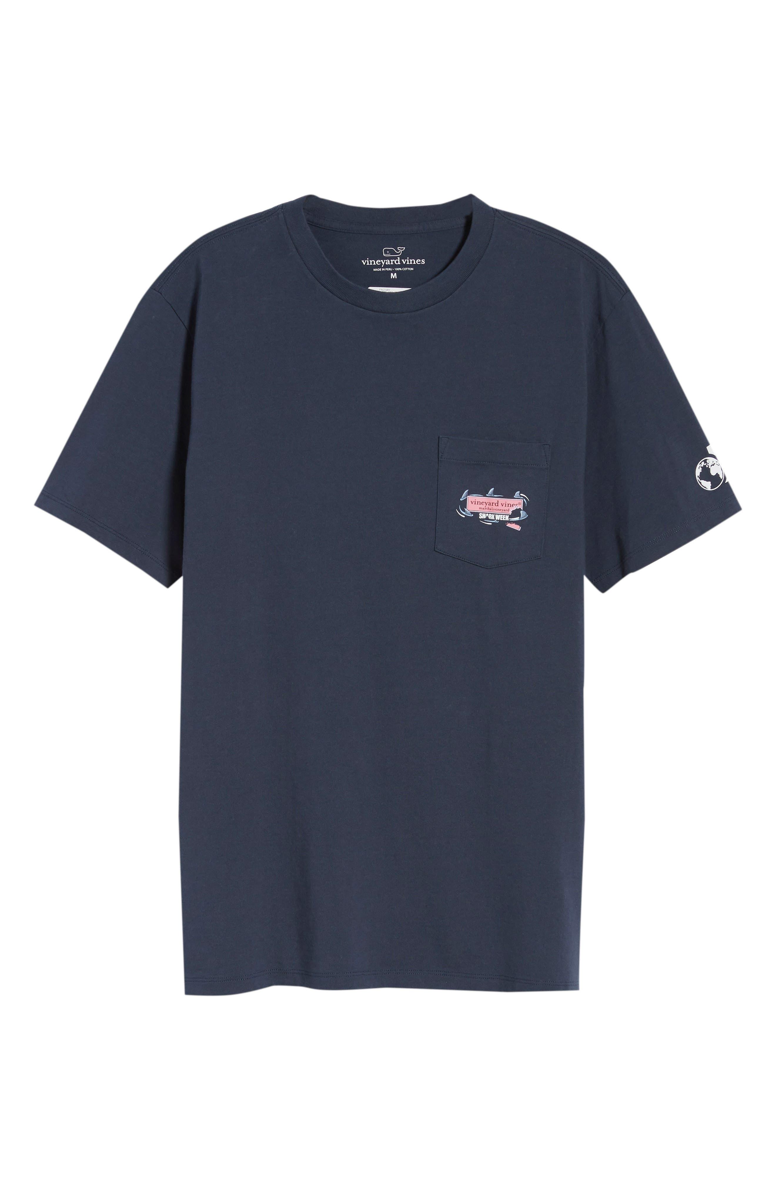 x Shark Week<sup>™</sup> Circling Sharks Pocket T-Shirt,                             Alternate thumbnail 6, color,                             406