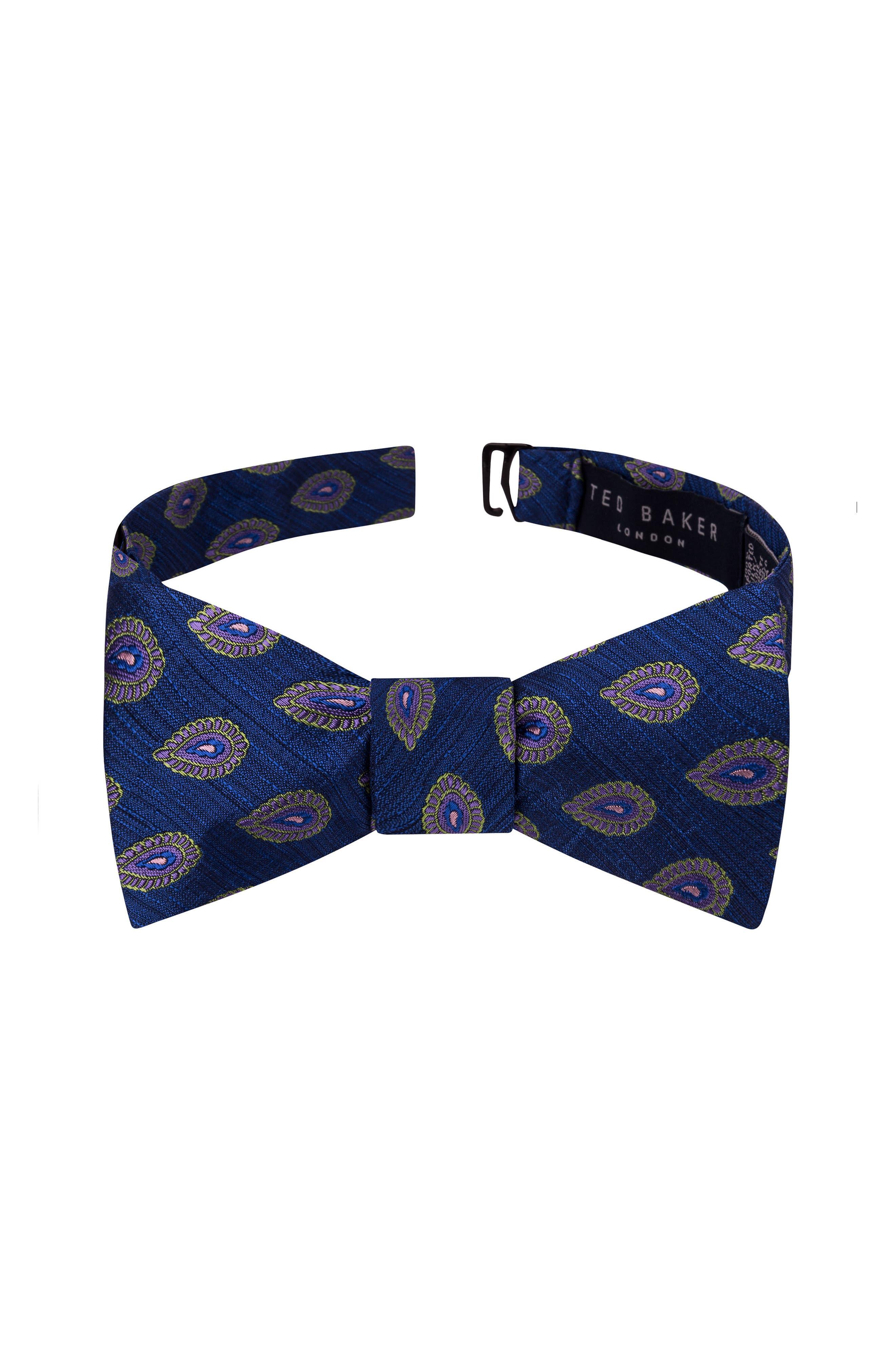 Elegant Medallion Silk Bow Tie,                         Main,                         color, 411