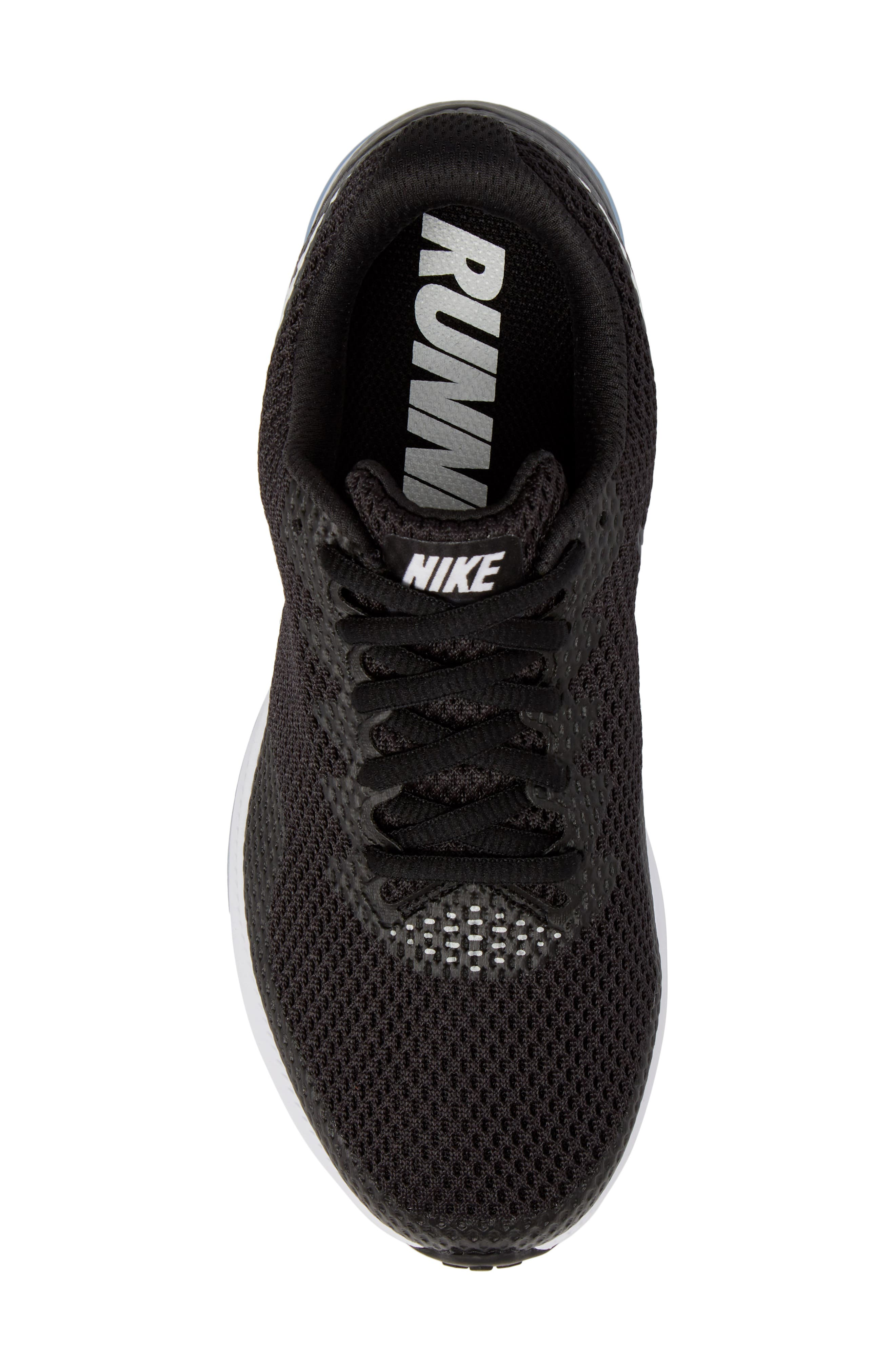 Zoom All Out Low 2 Running Shoe,                             Alternate thumbnail 5, color,                             BLACK/ WHITE/ ANTHRACITE