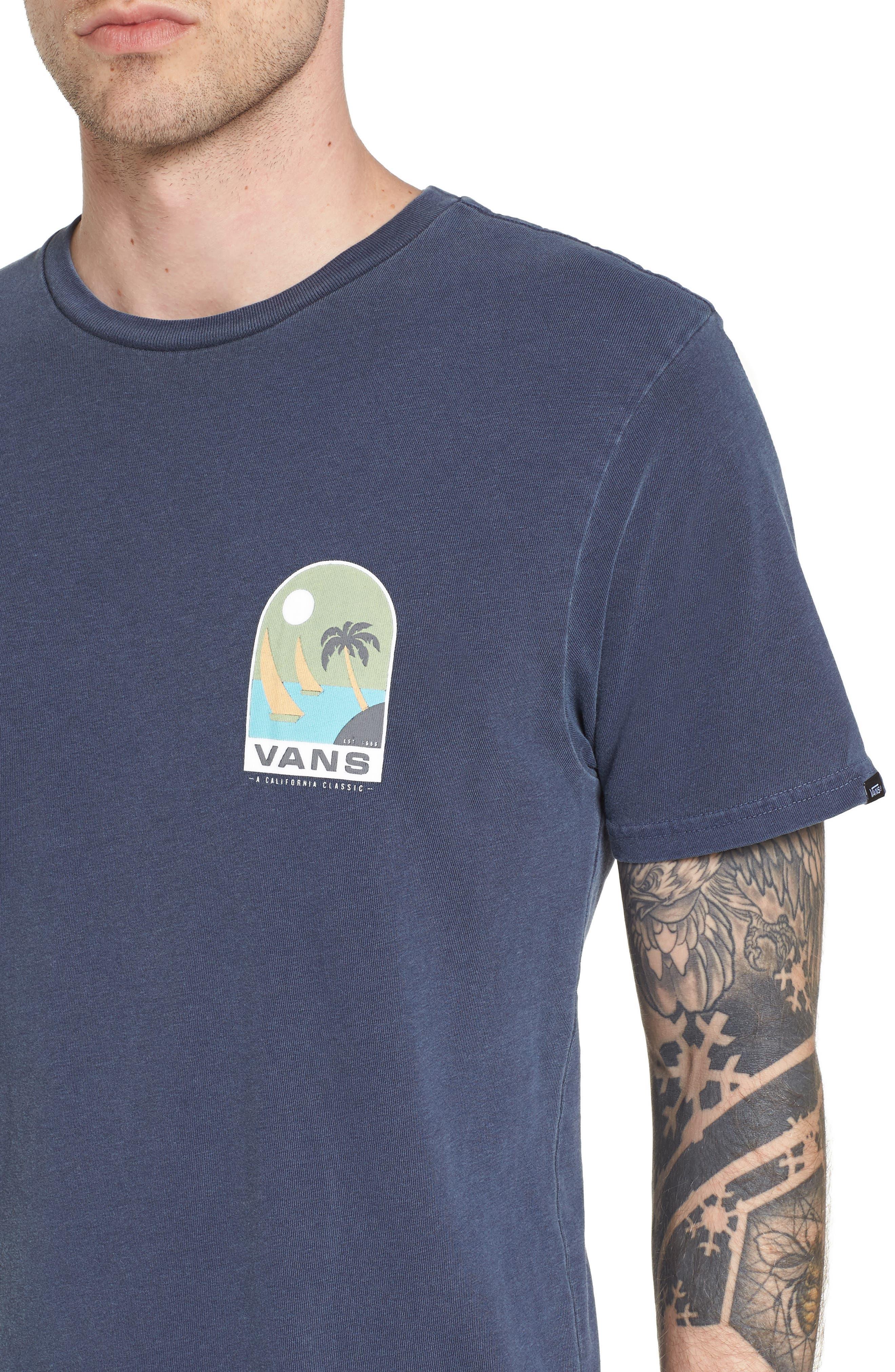 Open Sail Graphic T-Shirt,                             Alternate thumbnail 4, color,                             401