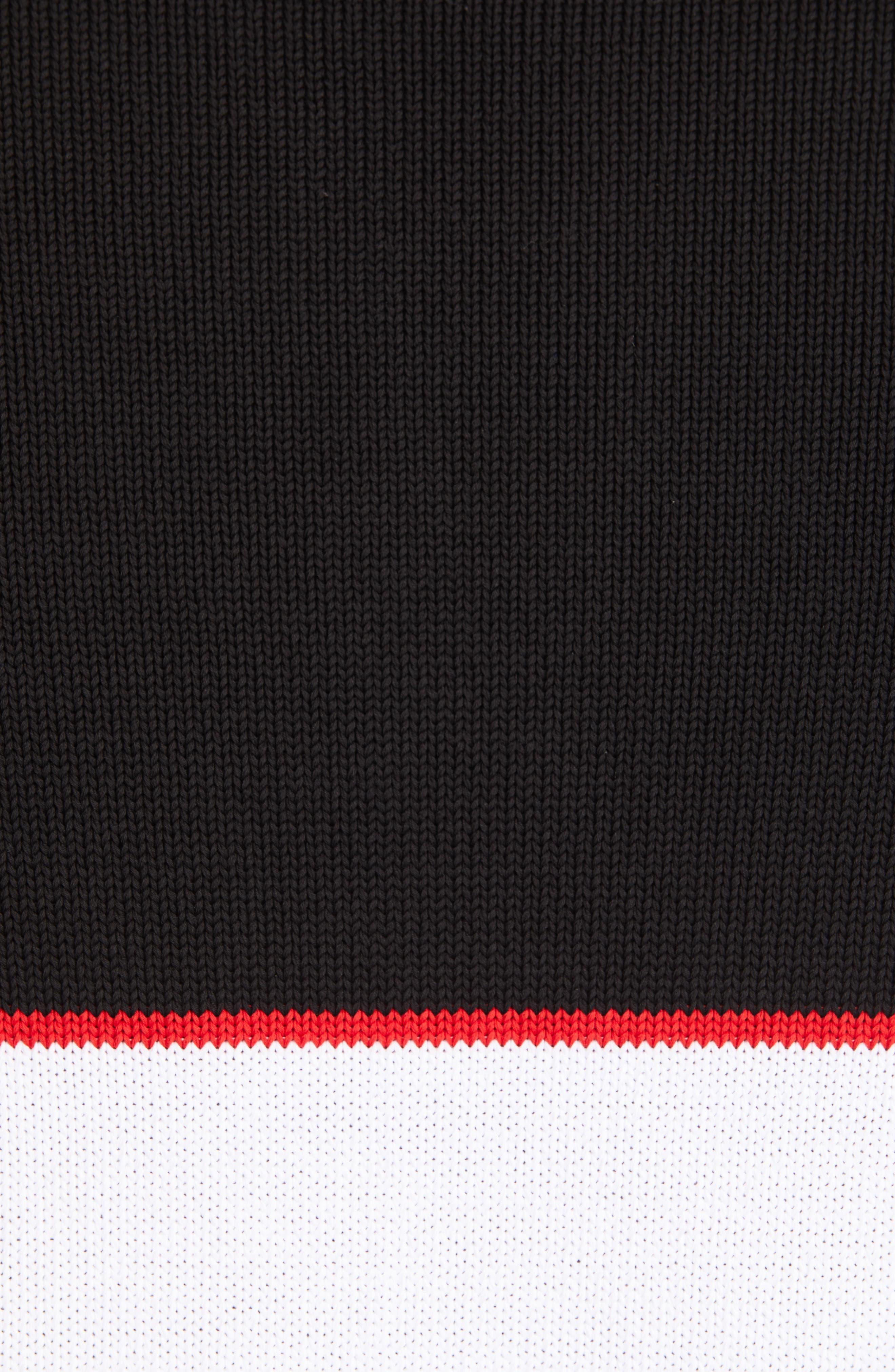 Upside Down Logo Sweater,                             Alternate thumbnail 5, color,                             BLACK