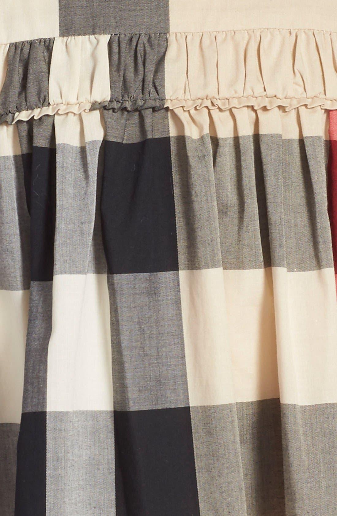 'Ariadne' Check Woven Dress,                             Alternate thumbnail 3, color,                             272