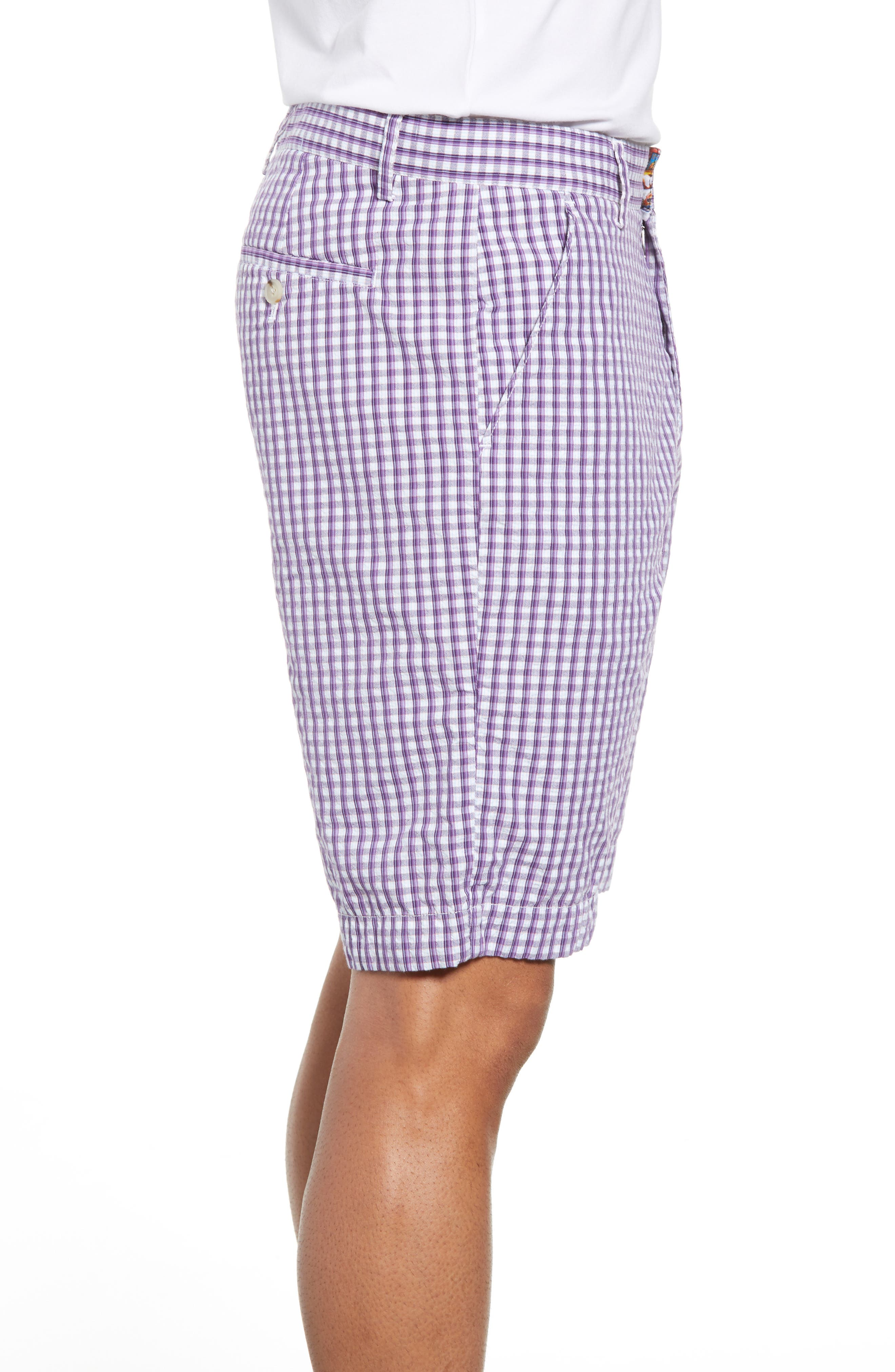Melendez Classic Fit Shorts,                             Alternate thumbnail 3, color,                             RED