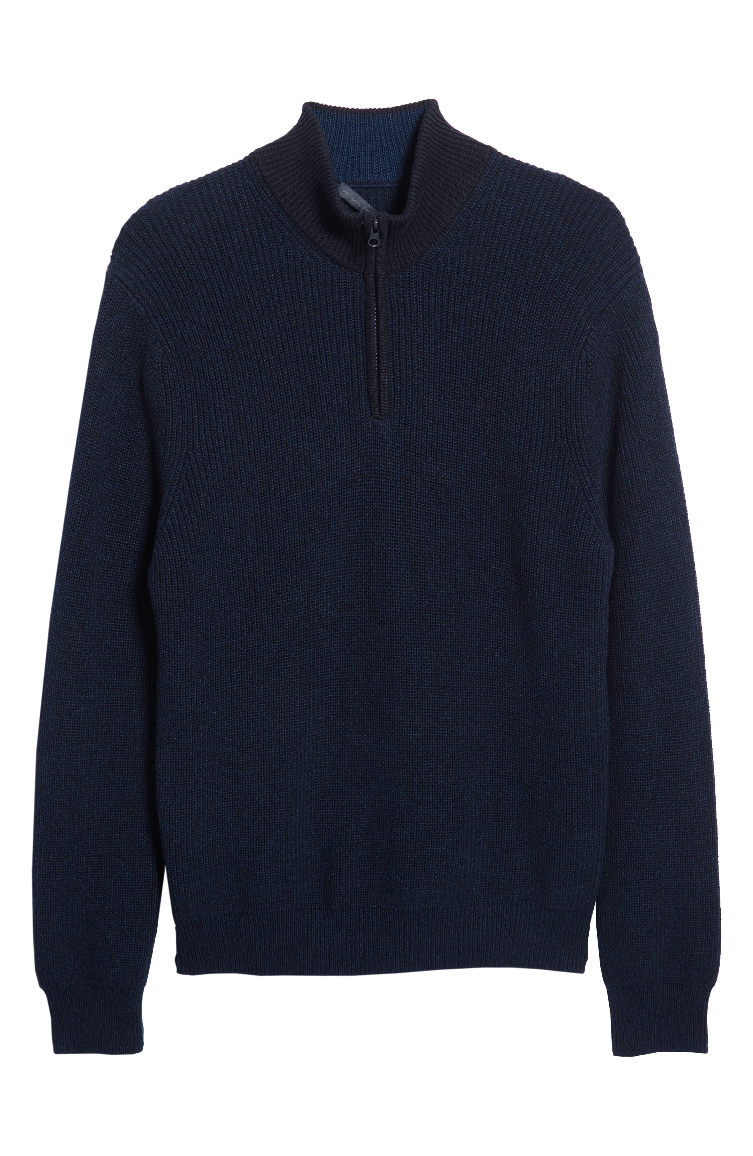 Fillmore Quarter Zip Sweater,                             Alternate thumbnail 6, color,                             NAVY