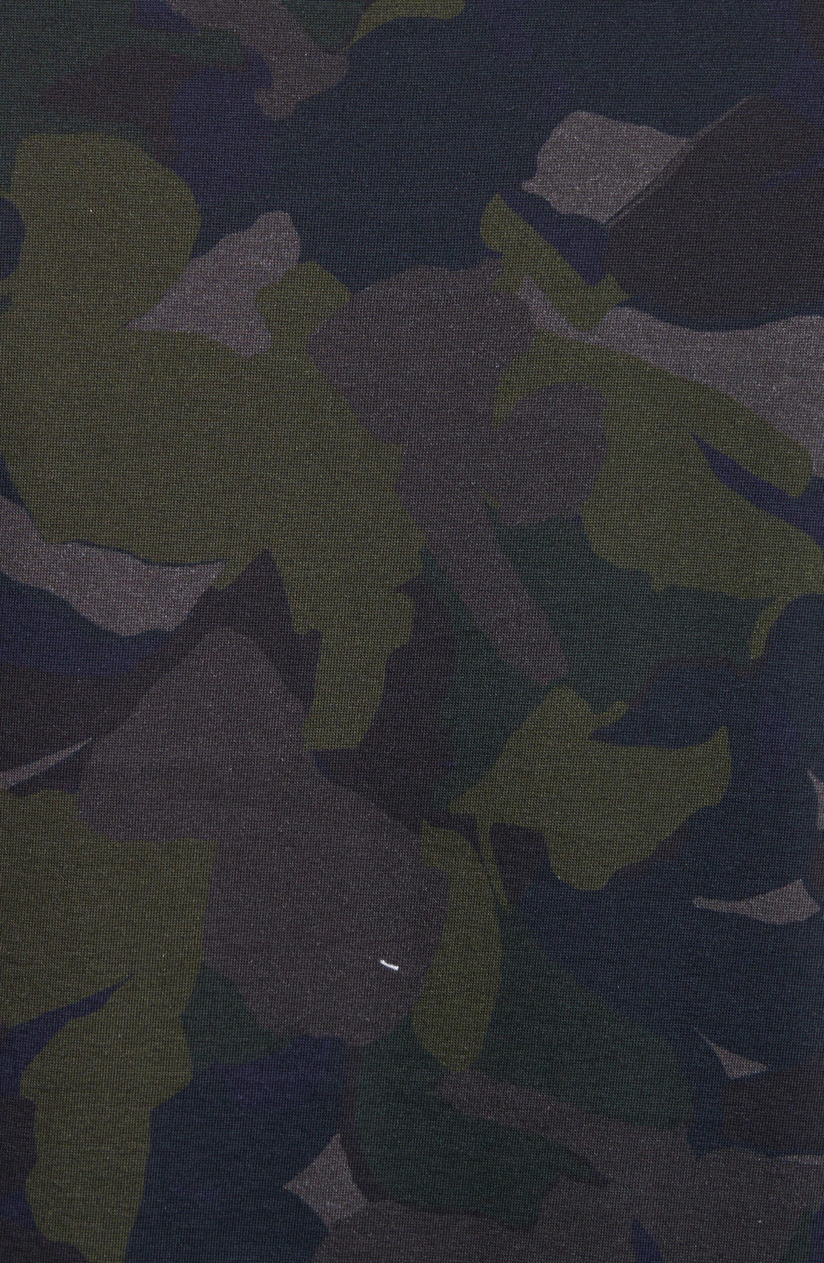 Camo Long Sleeve T-Shirt,                             Alternate thumbnail 5, color,                             410
