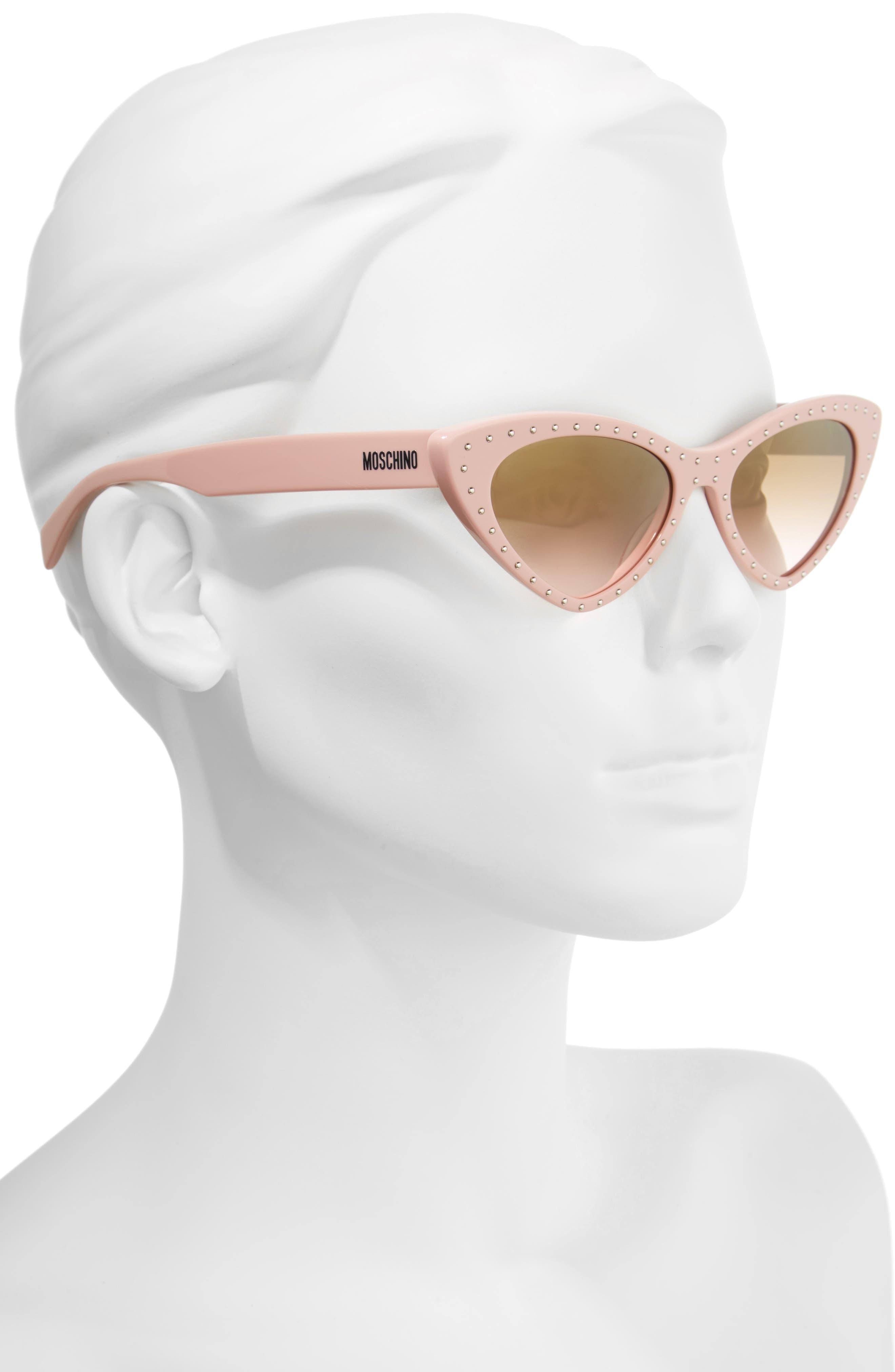 52mm Cat's Eye Sunglasses,                             Alternate thumbnail 2, color,                             PINK