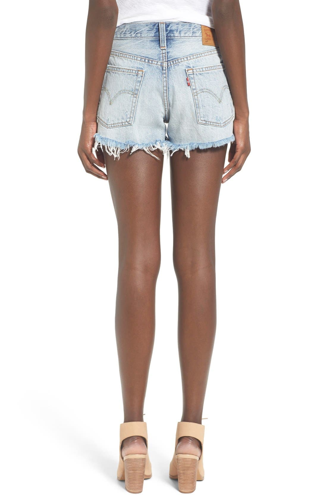 '501<sup>®</sup>' Cutoff Denim Shorts,                             Alternate thumbnail 3, color,                             WAVELINE