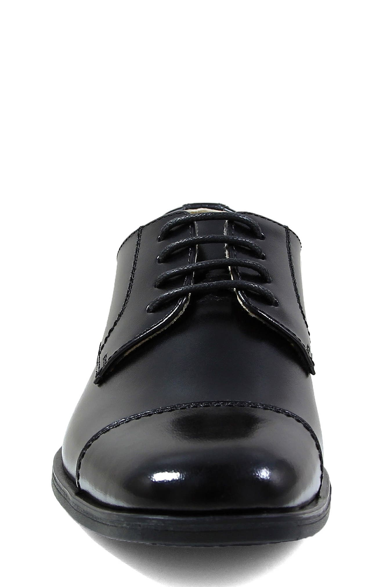Reveal Cap Toe Derby,                             Alternate thumbnail 4, color,                             BLACK