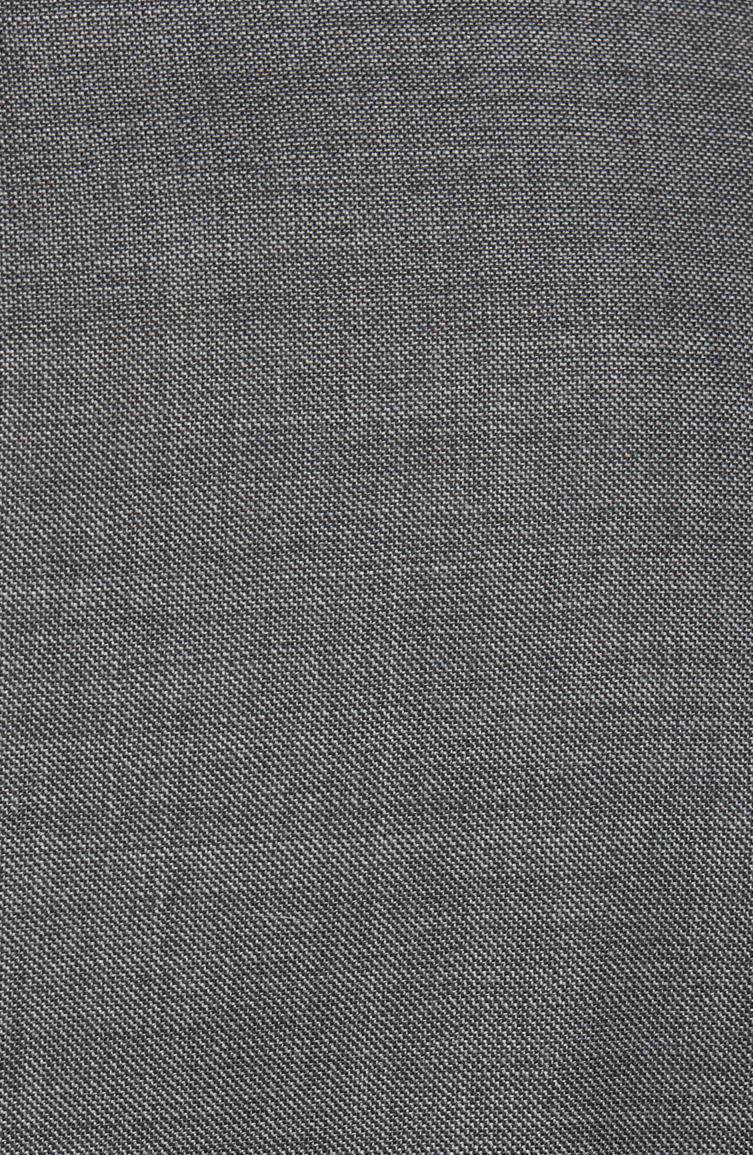 Trim Fit Sharkskin Wool Suit,                             Alternate thumbnail 6, color,                             MID GREY