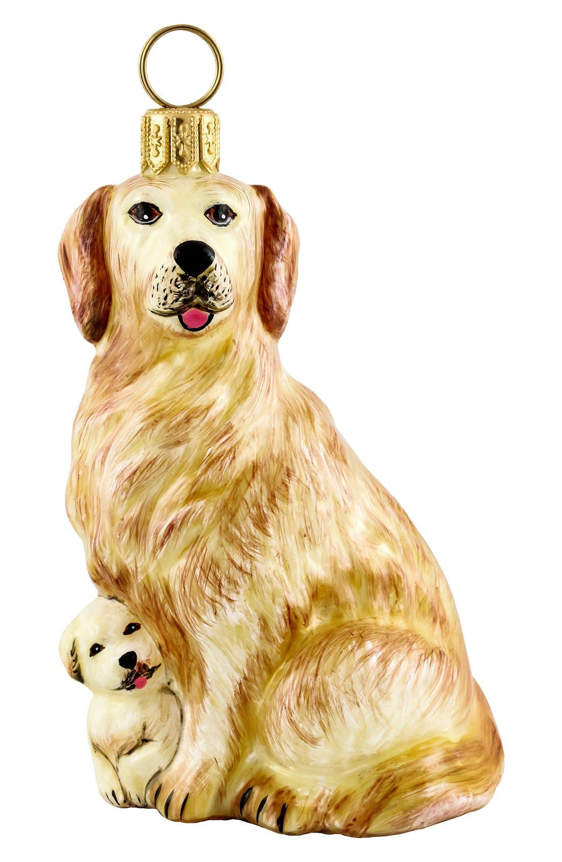 'Mother with Puppy' Ornament,                             Main thumbnail 1, color,                             GOLDEN RETRIEVER