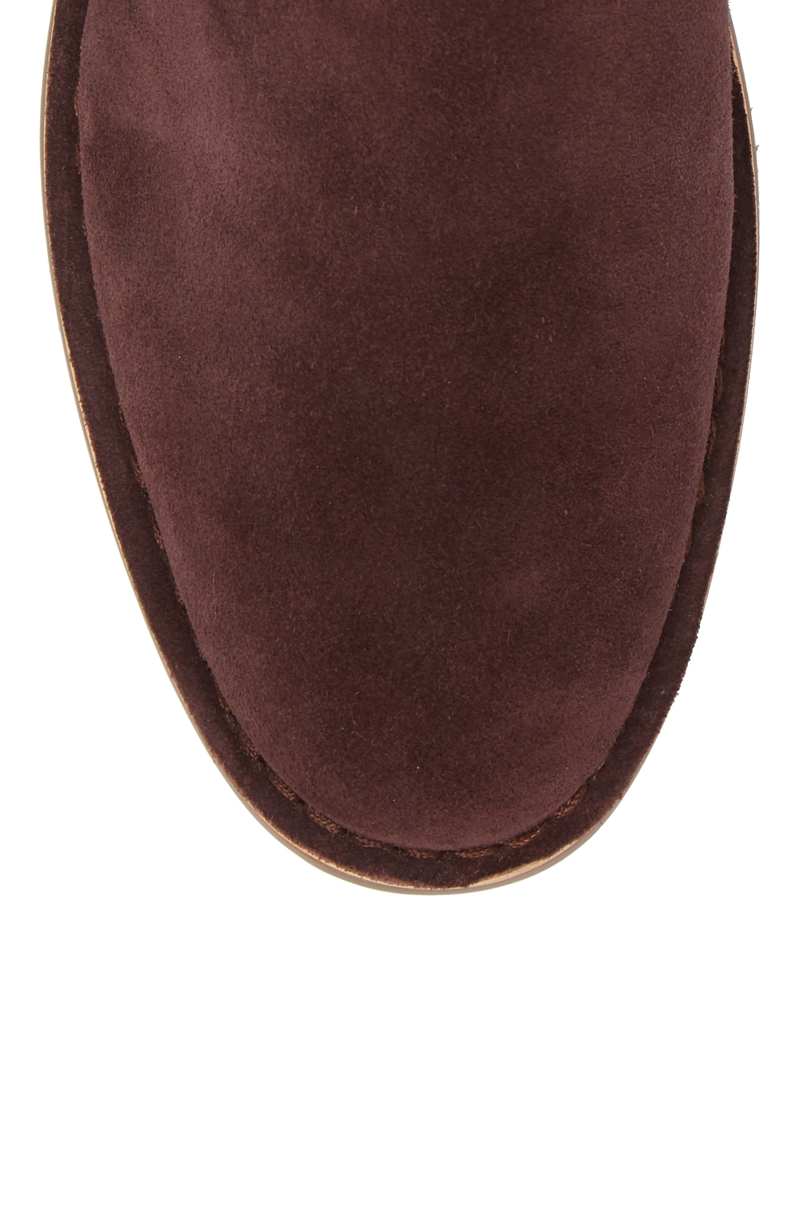 Mesa Chelsea Boot,                             Alternate thumbnail 5, color,                             BURGUNDY SUEDE