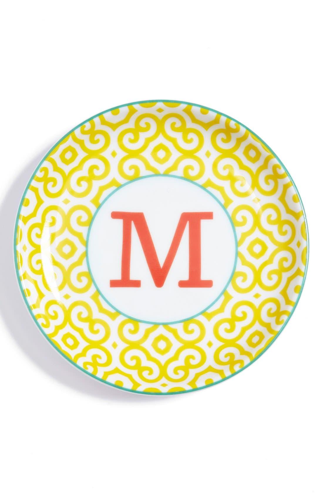 'L'Alphabet' Porcelain Tray,                             Main thumbnail 15, color,