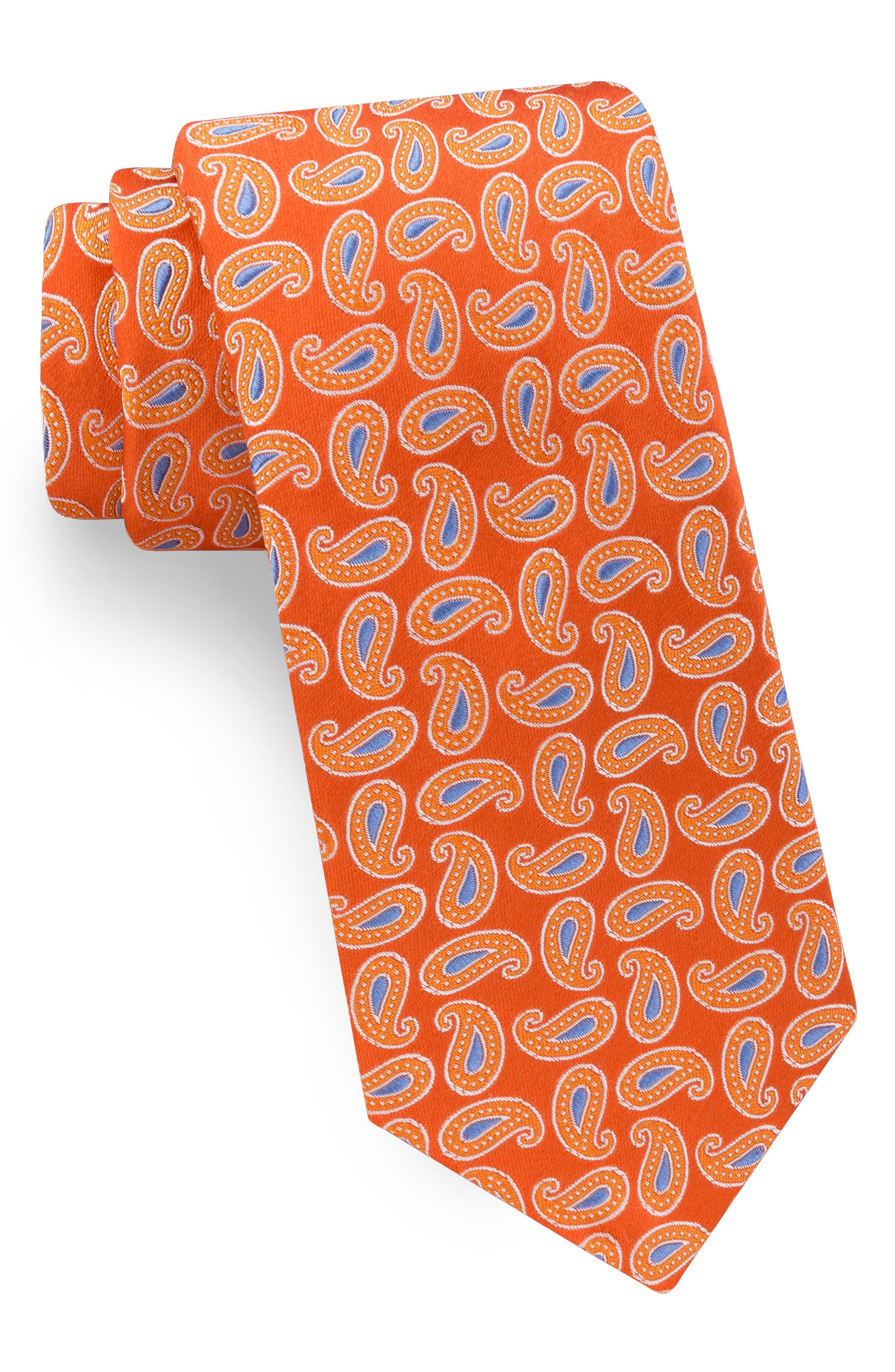 Paisley Silk Tie,                             Main thumbnail 3, color,