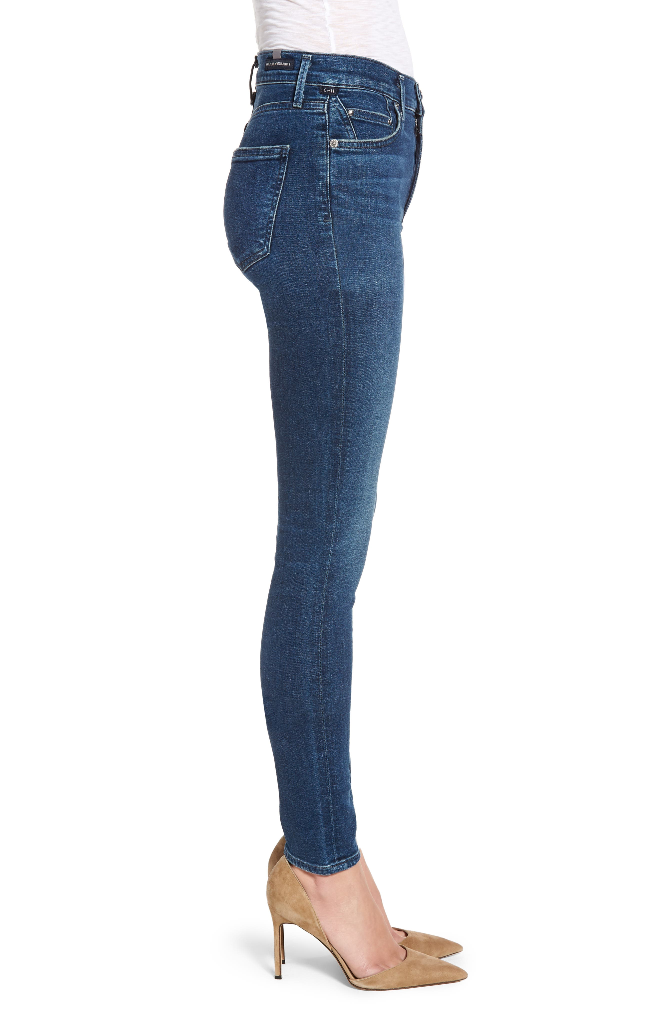 CITIZENS OF HUMANITY,                             Rocket Skinny Jeans,                             Alternate thumbnail 3, color,                             GLORY
