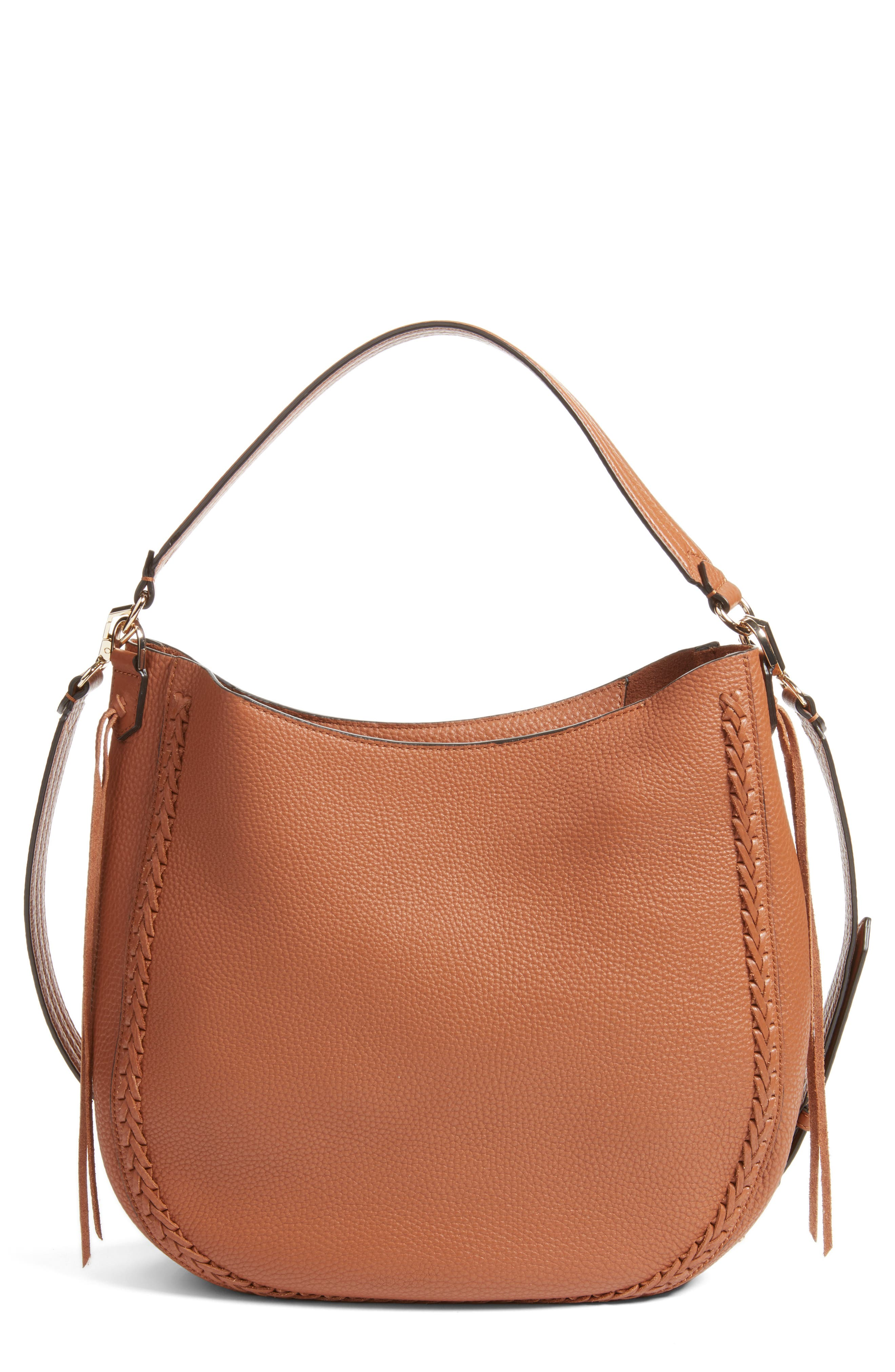 Unlined Convertible Whipstitch Hobo,                             Main thumbnail 4, color,