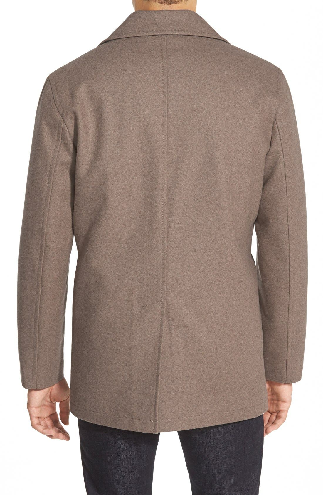Wool Blend Double Breasted Peacoat,                             Alternate thumbnail 90, color,
