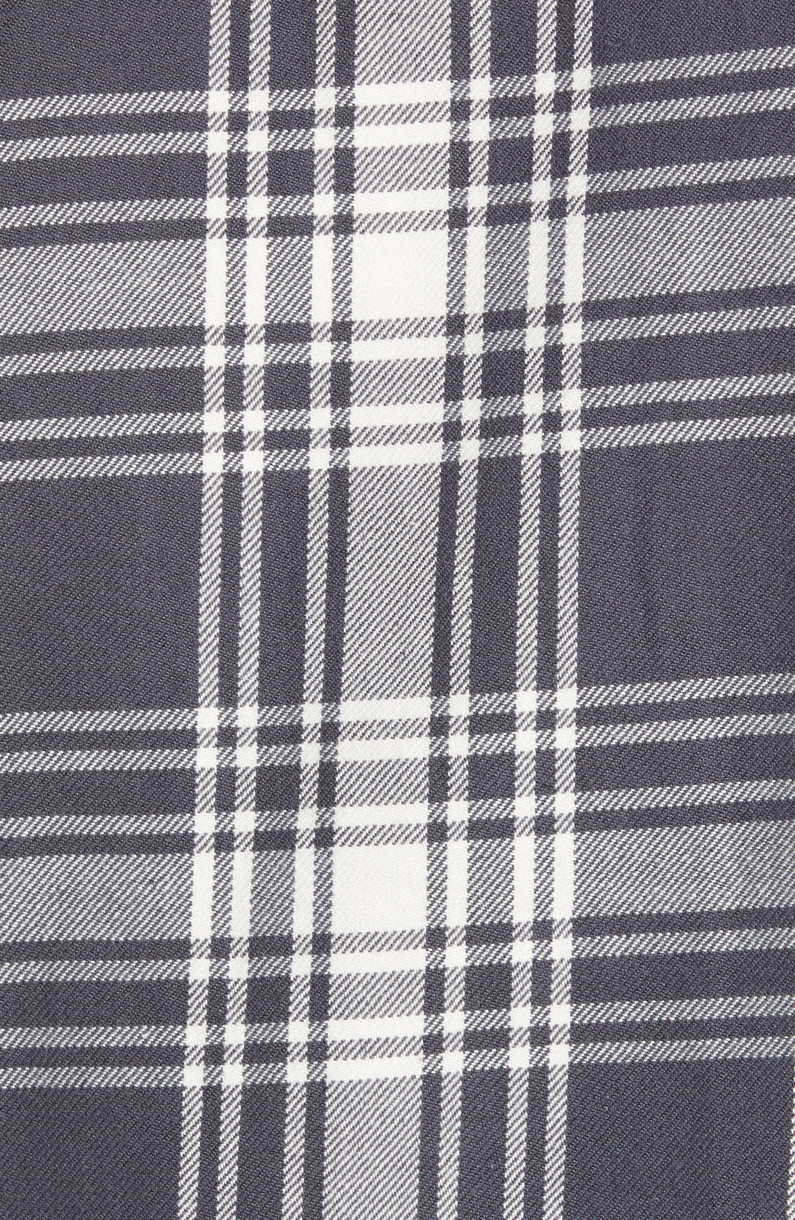 Plaid Utility Long Sleeve Trim Fit Sport Shirt,                             Alternate thumbnail 5, color,                             GREY CASTLEROCK PLAID