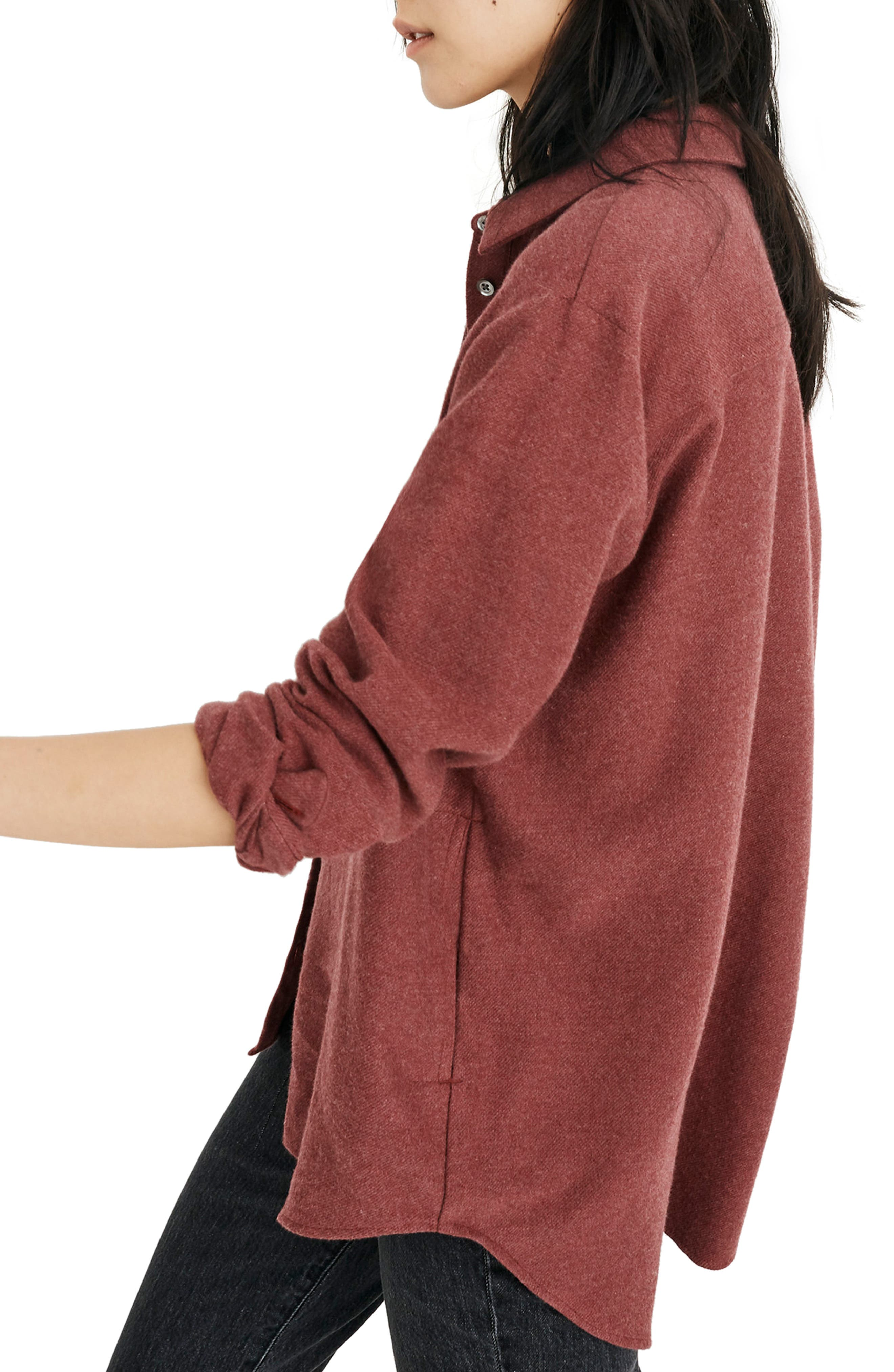 MADEWELL,                             Flannel Sunday Shirt,                             Alternate thumbnail 4, color,                             600