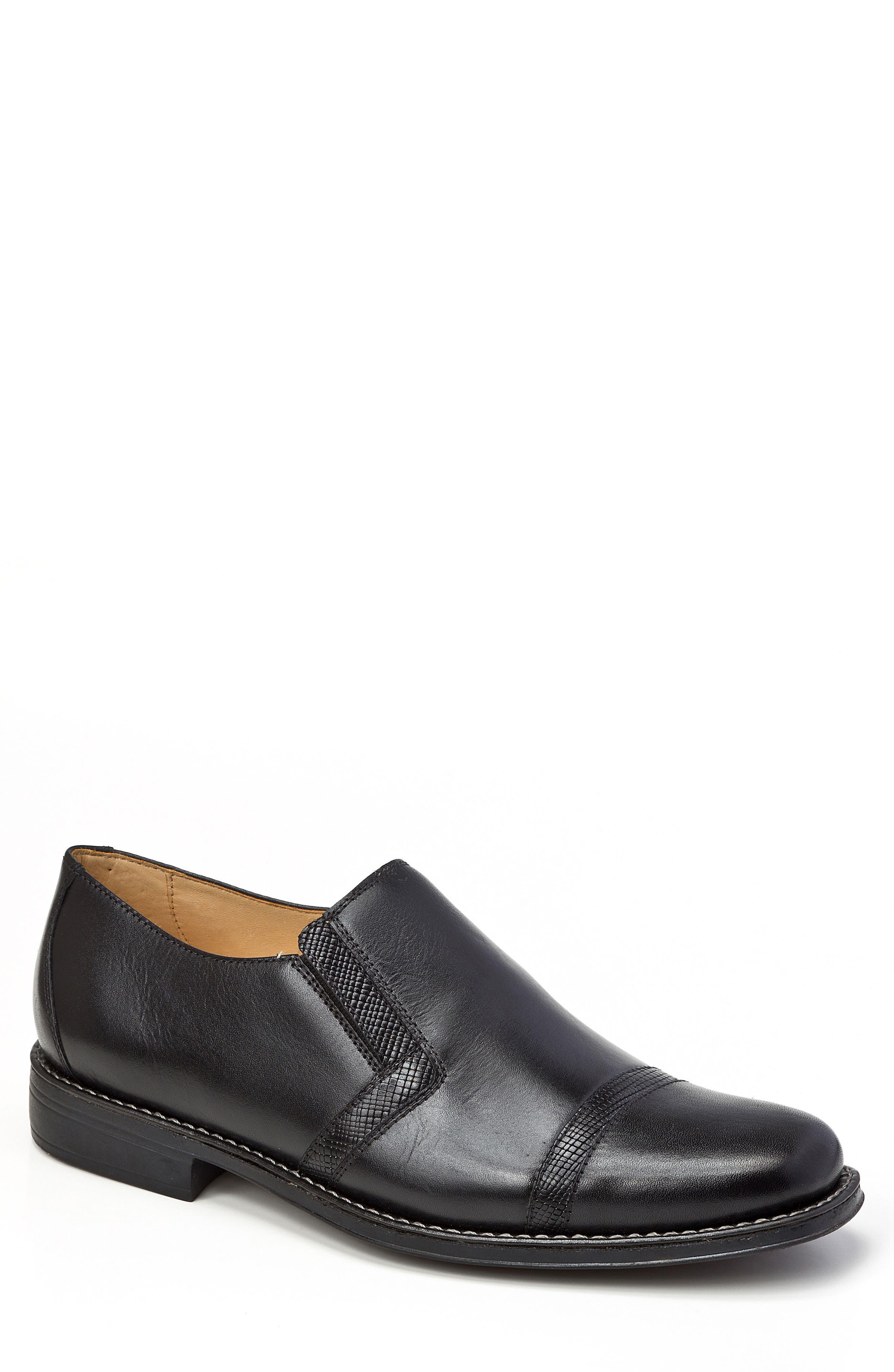 Sebastian Venetian Loafer,                         Main,                         color, BLACK LEATHER