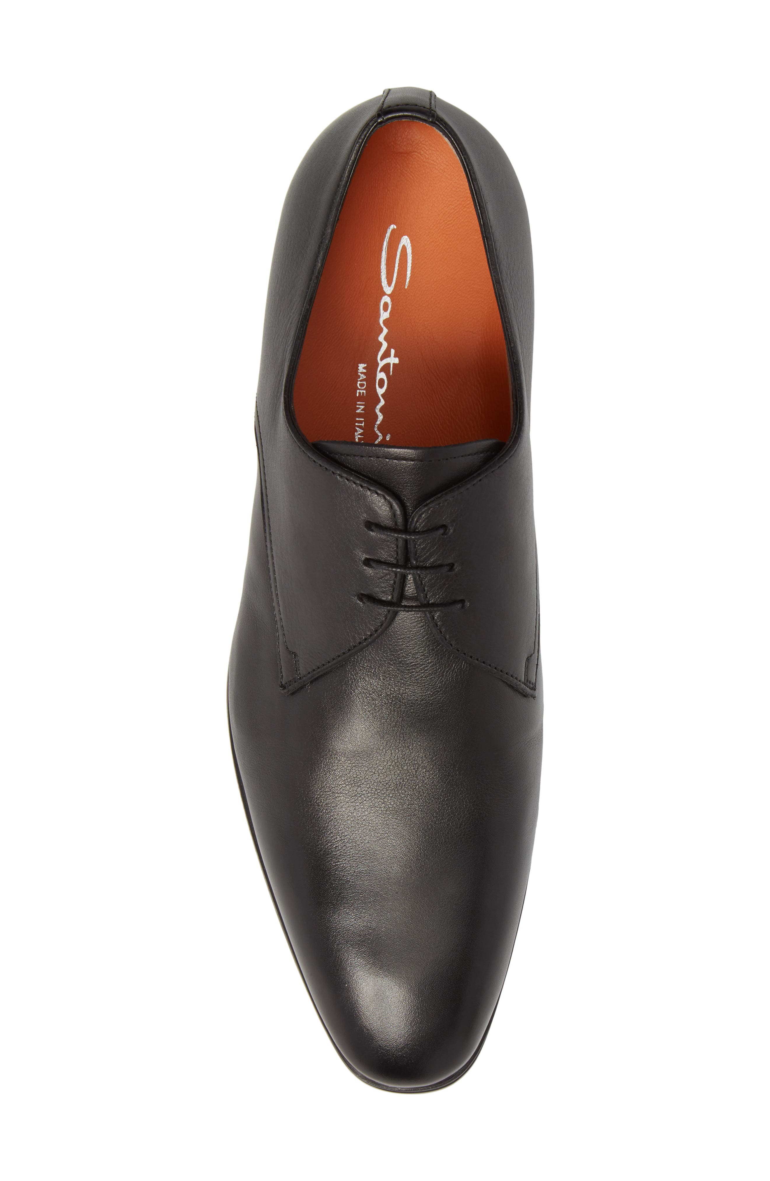 SANTONI,                             Glenn Plain Toe Derby,                             Alternate thumbnail 5, color,                             001