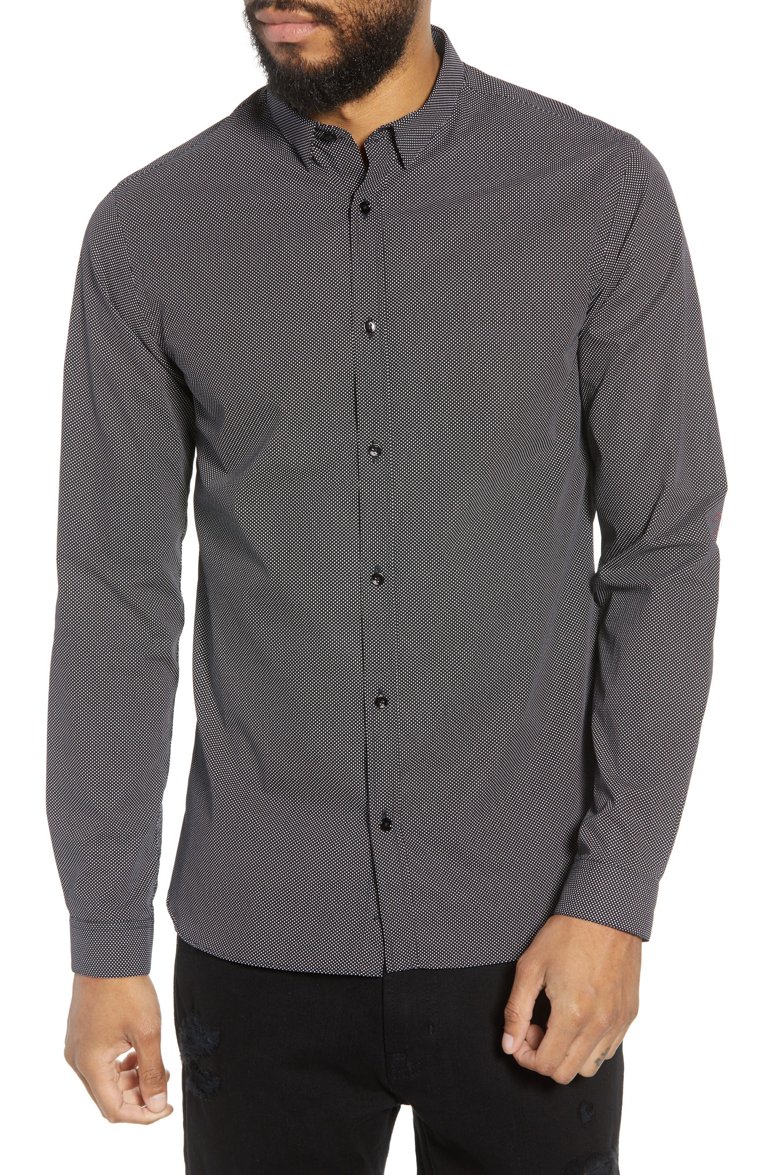 Slim Fit Print Sport Shirt,                         Main,                         color, 415