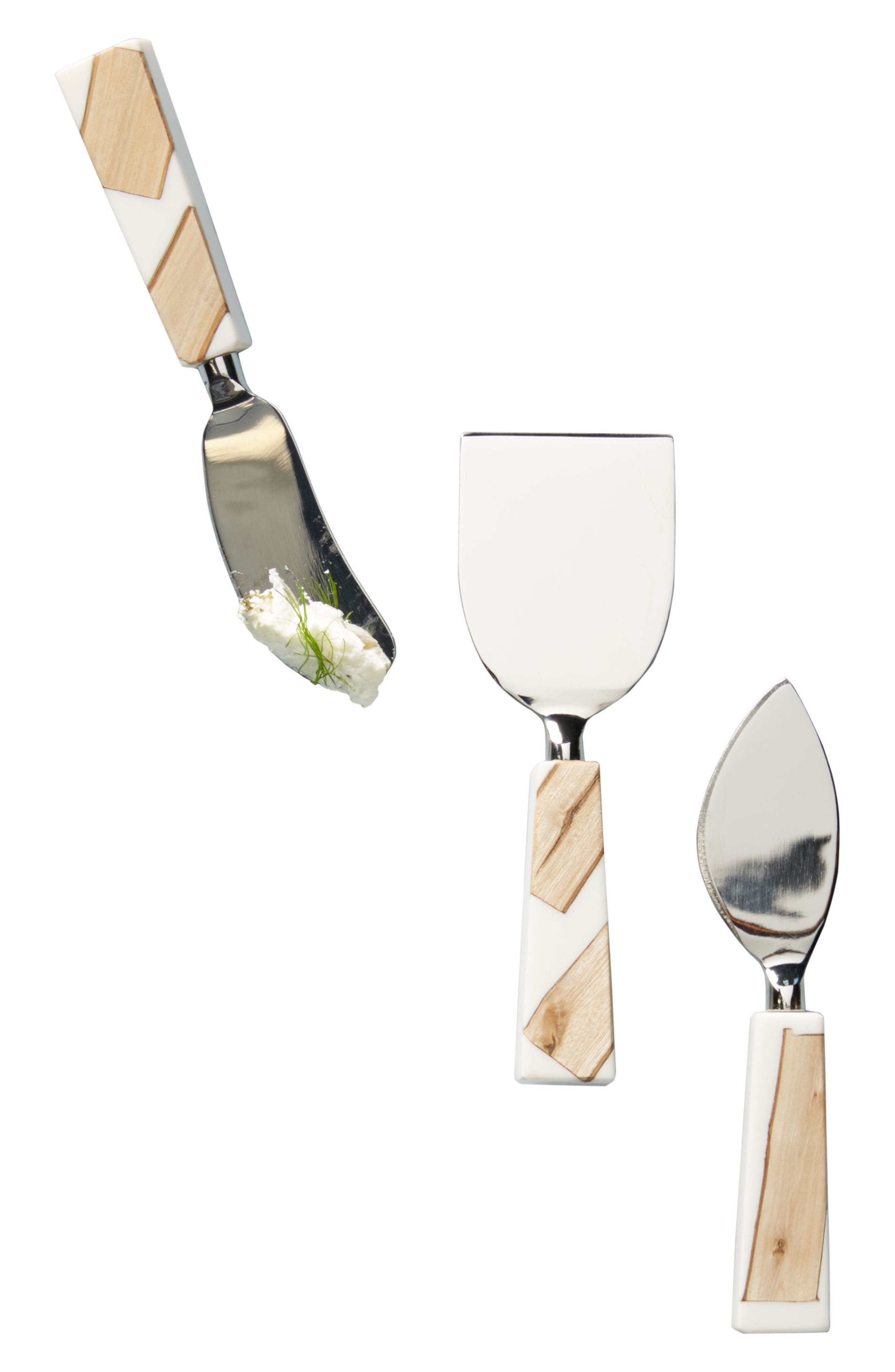 Catbird Set of 3 Cheese Knives,                             Alternate thumbnail 3, color,                             213