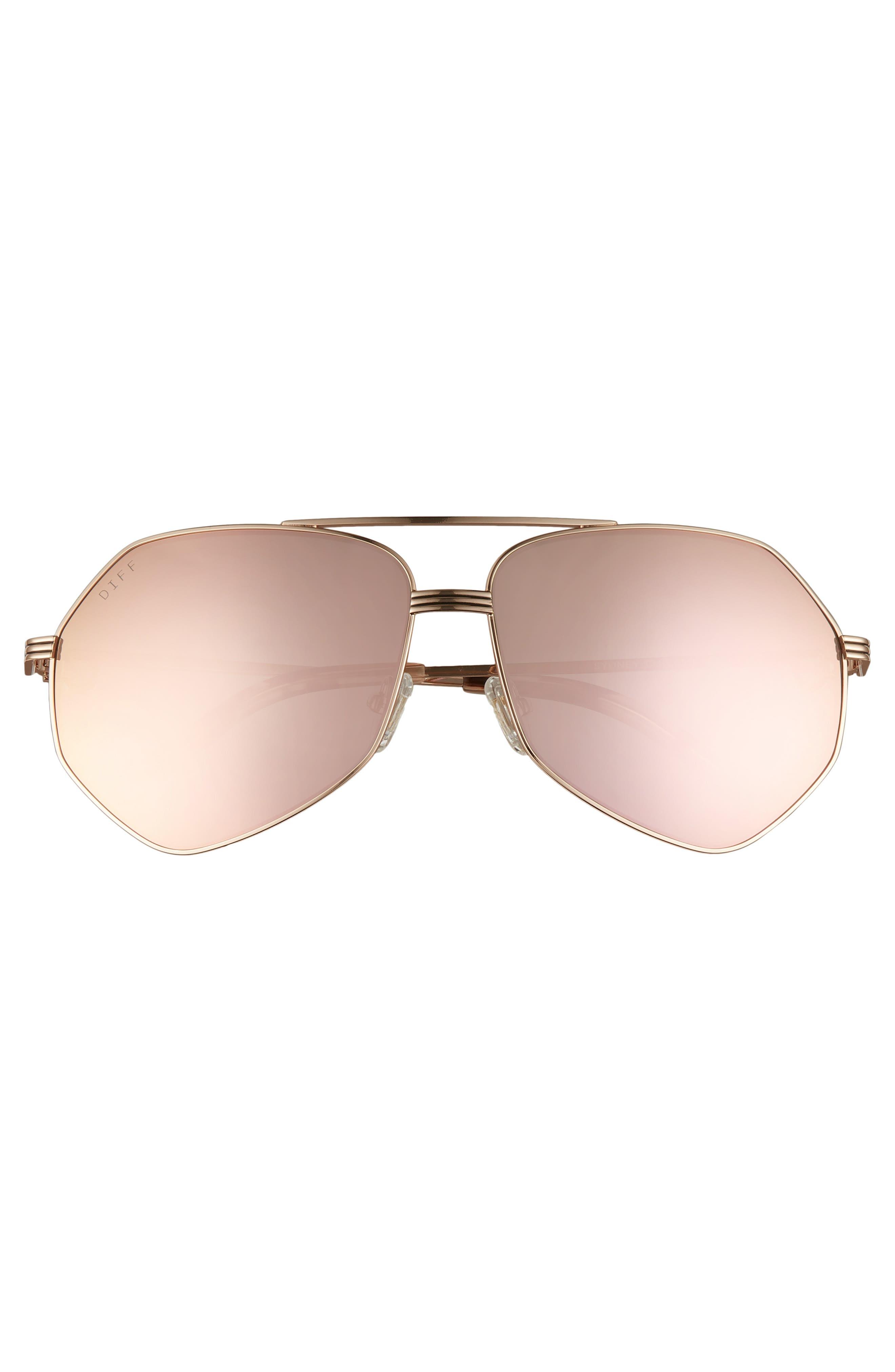 Sydney 62mm Polarized Aviator Sunglasses,                             Alternate thumbnail 3, color,                             GOLD/ HIMALAYAN/ CHAMPAGNE