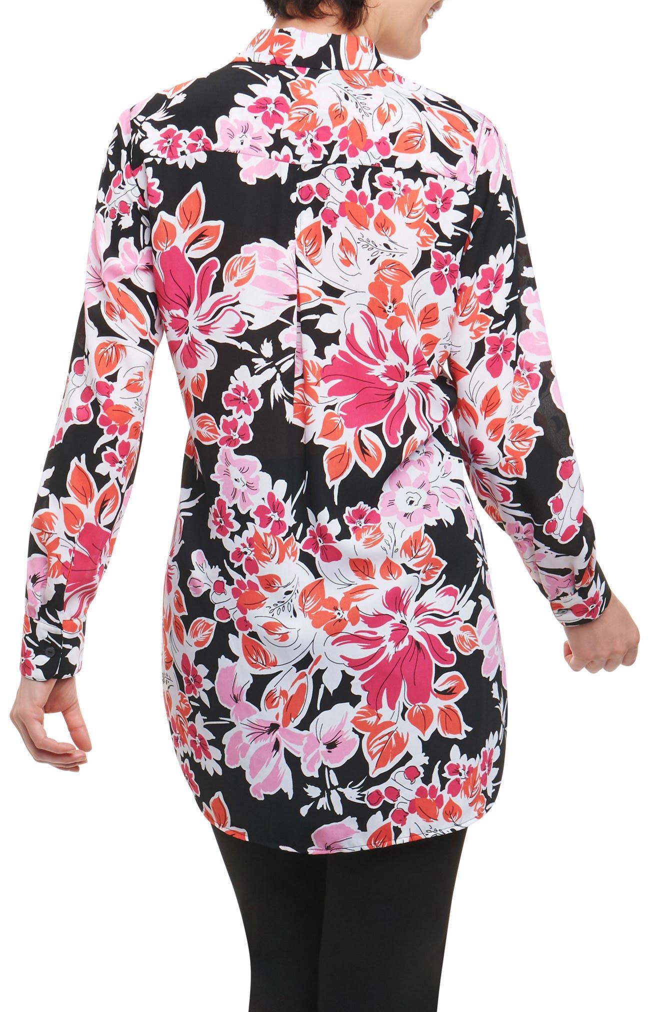 Jade Blooming Floral Tunic Shirt,                             Alternate thumbnail 2, color,                             003