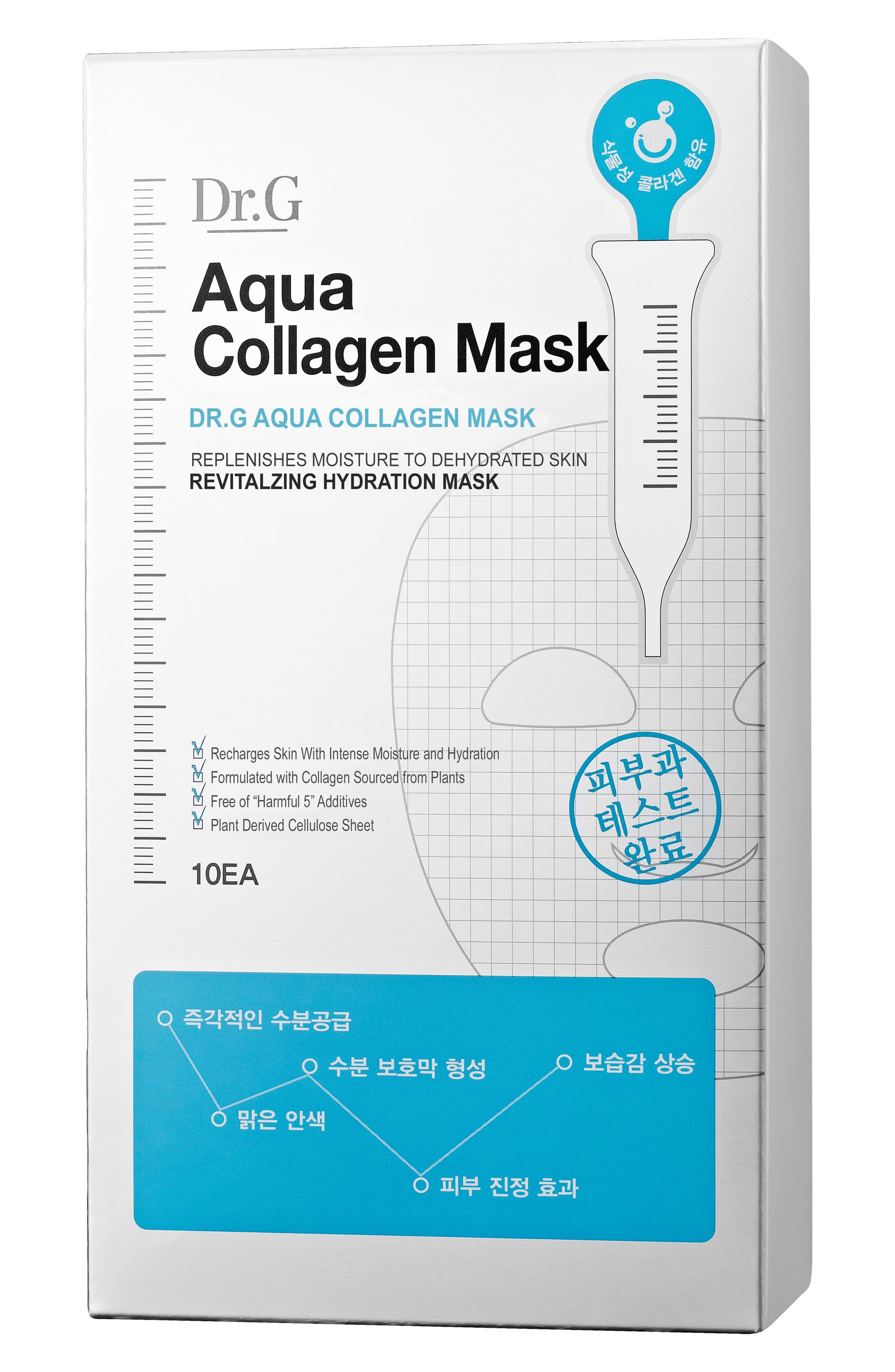 Aqua Collagen Mask,                             Main thumbnail 1, color,                             000