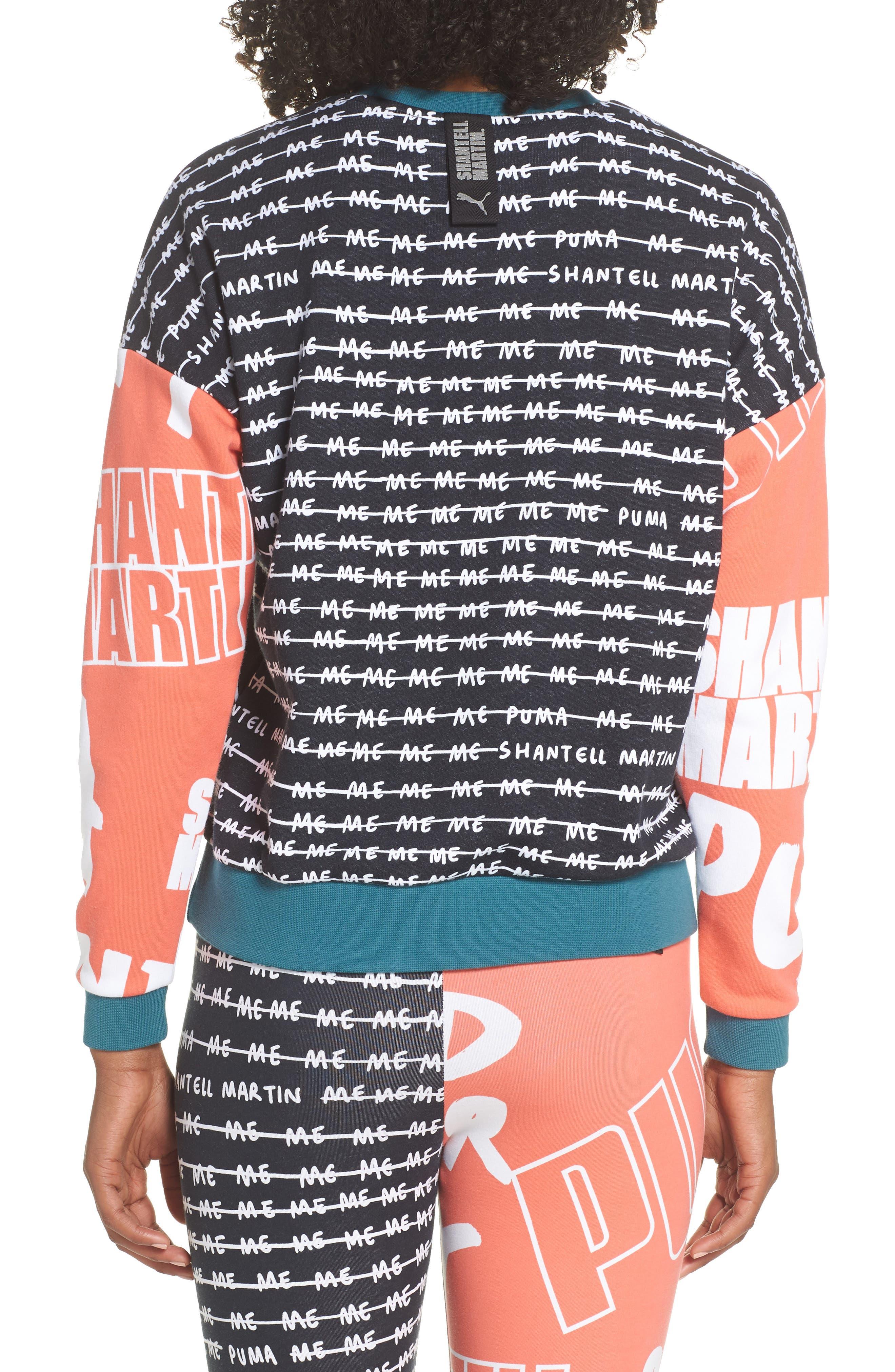 X Shantell Martin Sweatshirt,                             Alternate thumbnail 2, color,                             PUMA BLACK