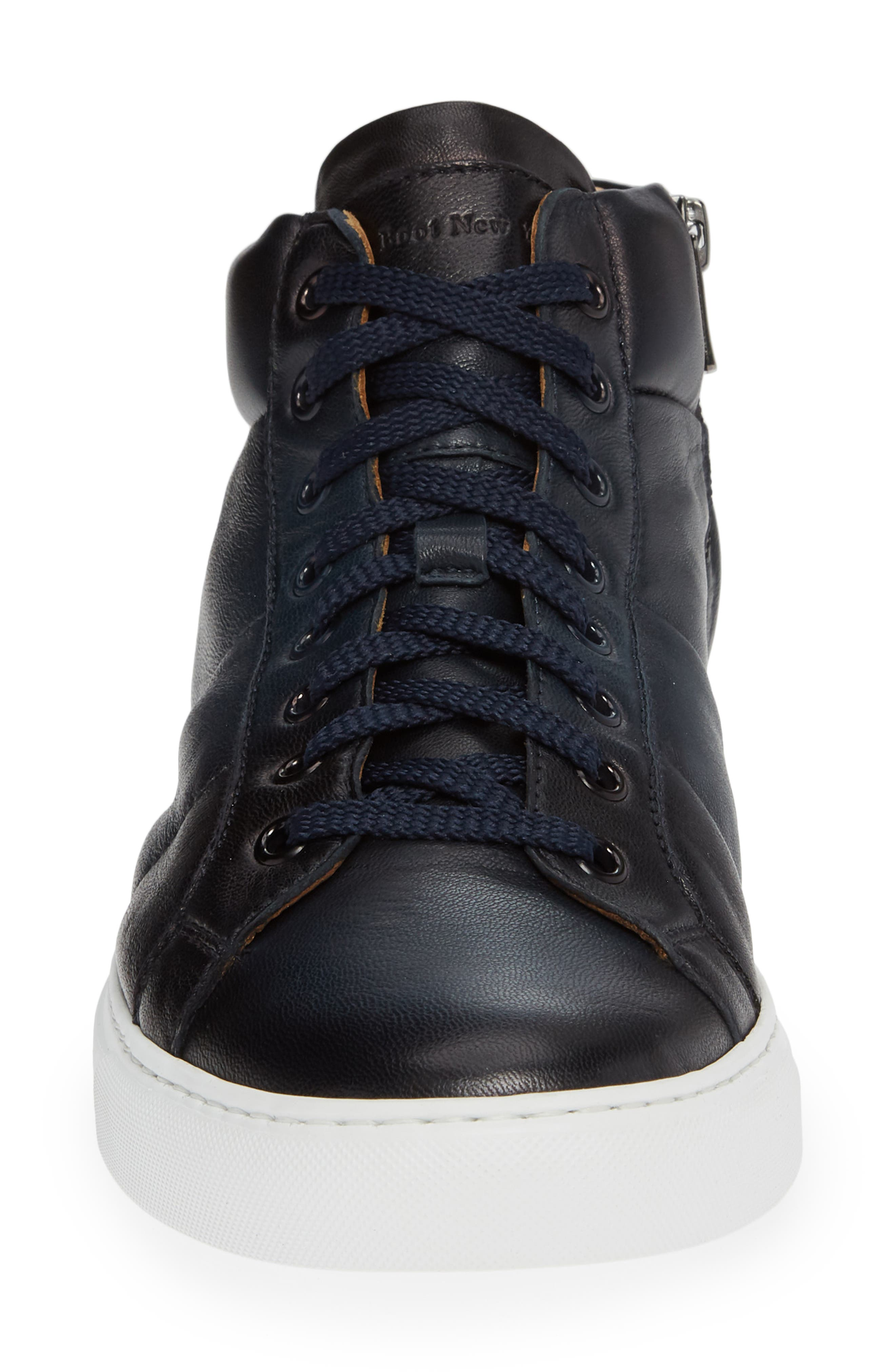 Rayburn Mid Top Sneaker,                             Alternate thumbnail 4, color,                             NAVY LEATHER