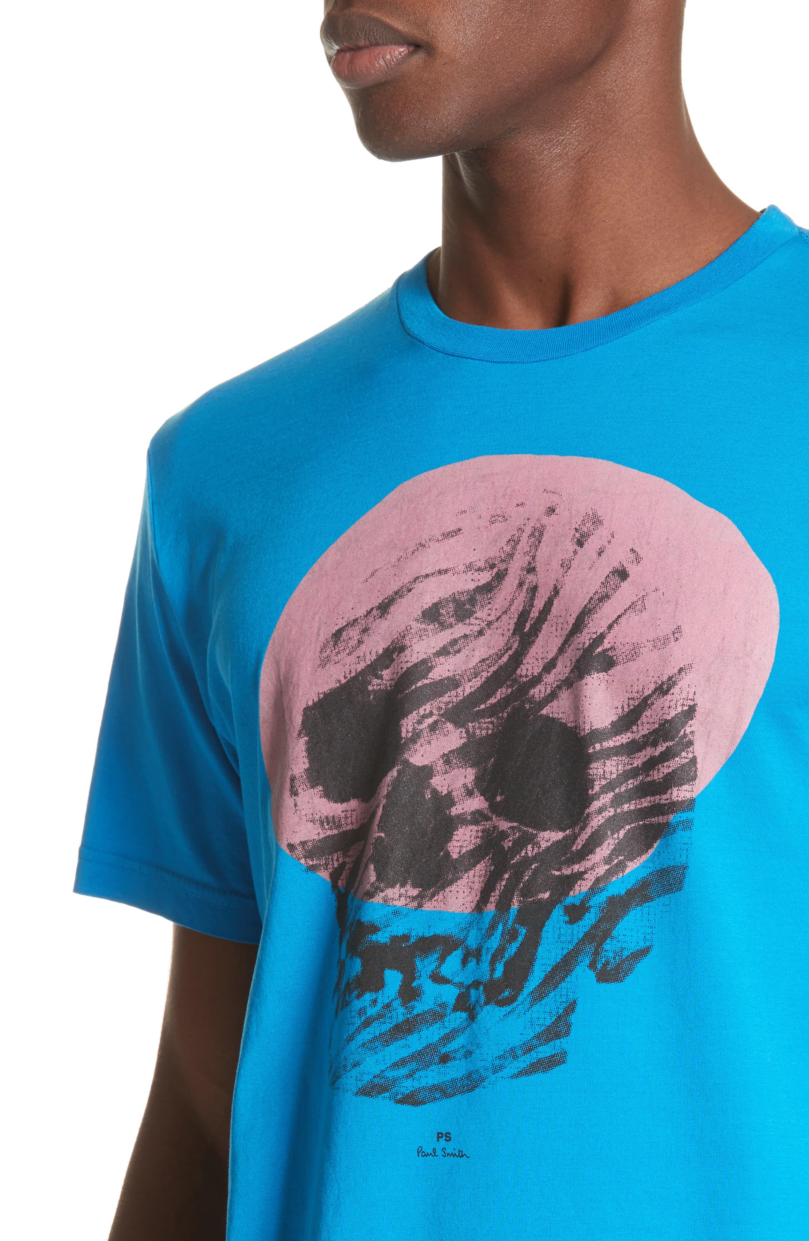 Skull Graphic T-Shirt,                             Alternate thumbnail 4, color,                             444