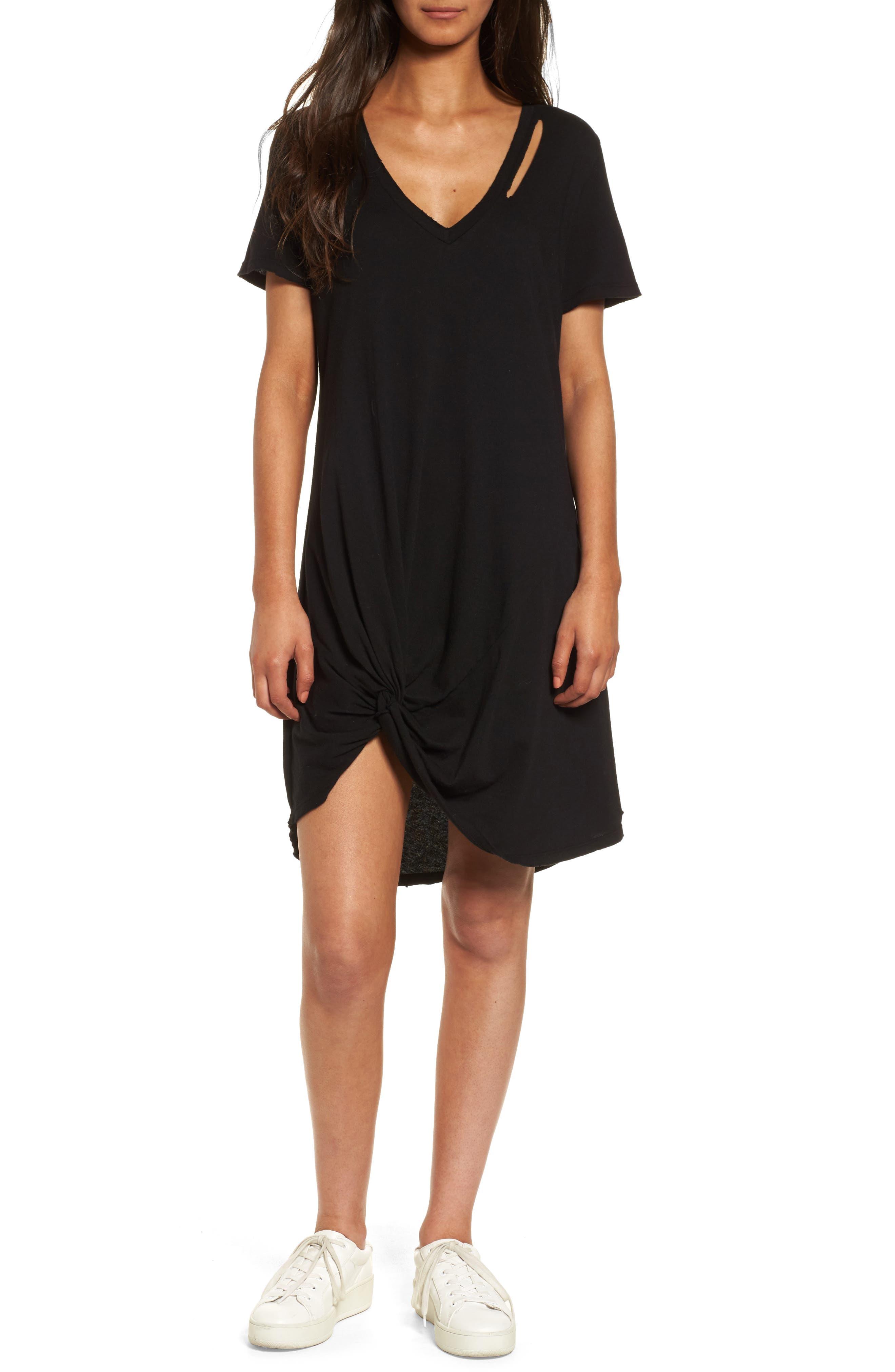 n: PHILANTHROPY Morrison T-Shirt Dress,                             Main thumbnail 1, color,                             001