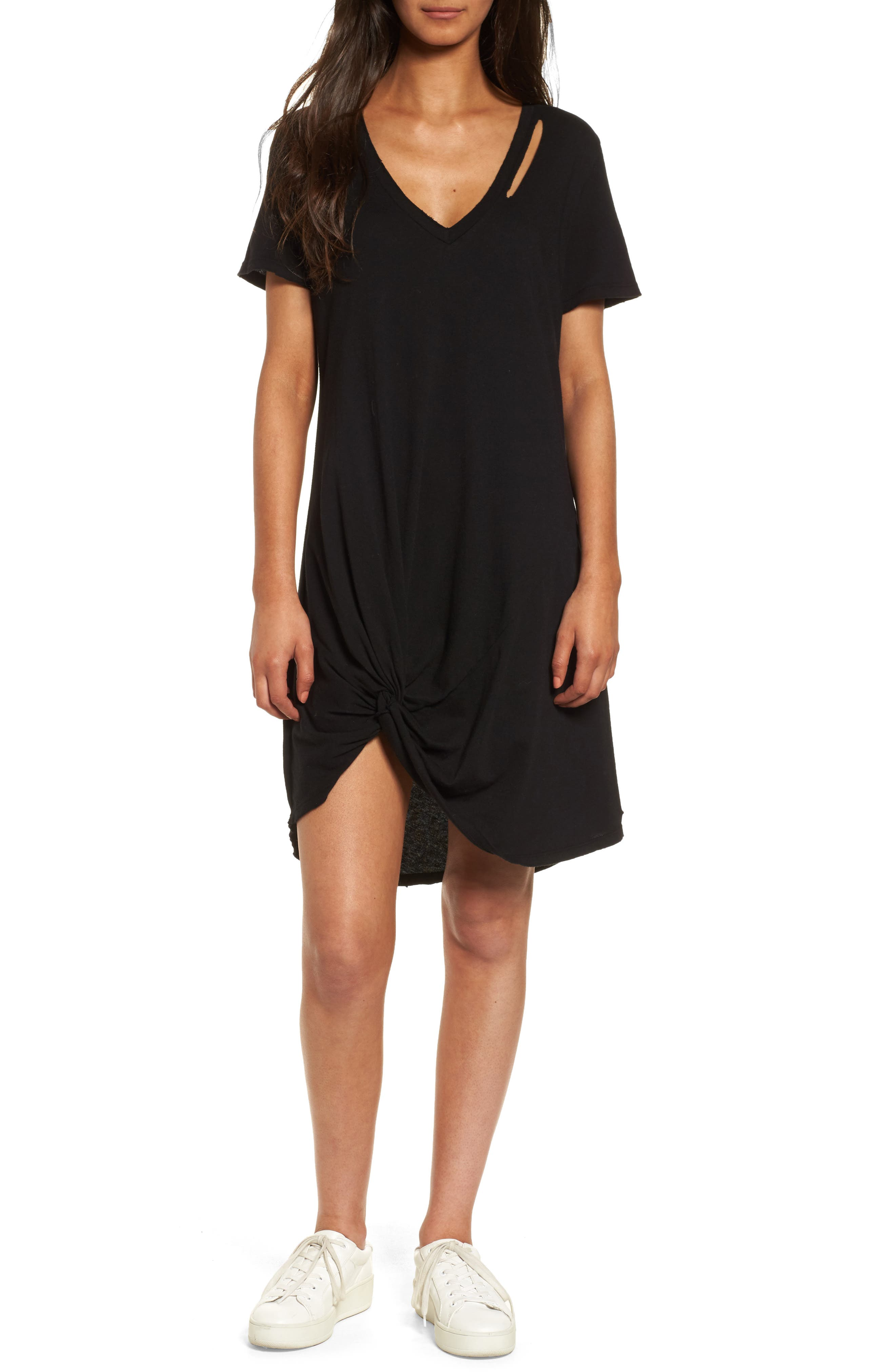 n: PHILANTHROPY Morrison T-Shirt Dress,                         Main,                         color, 001