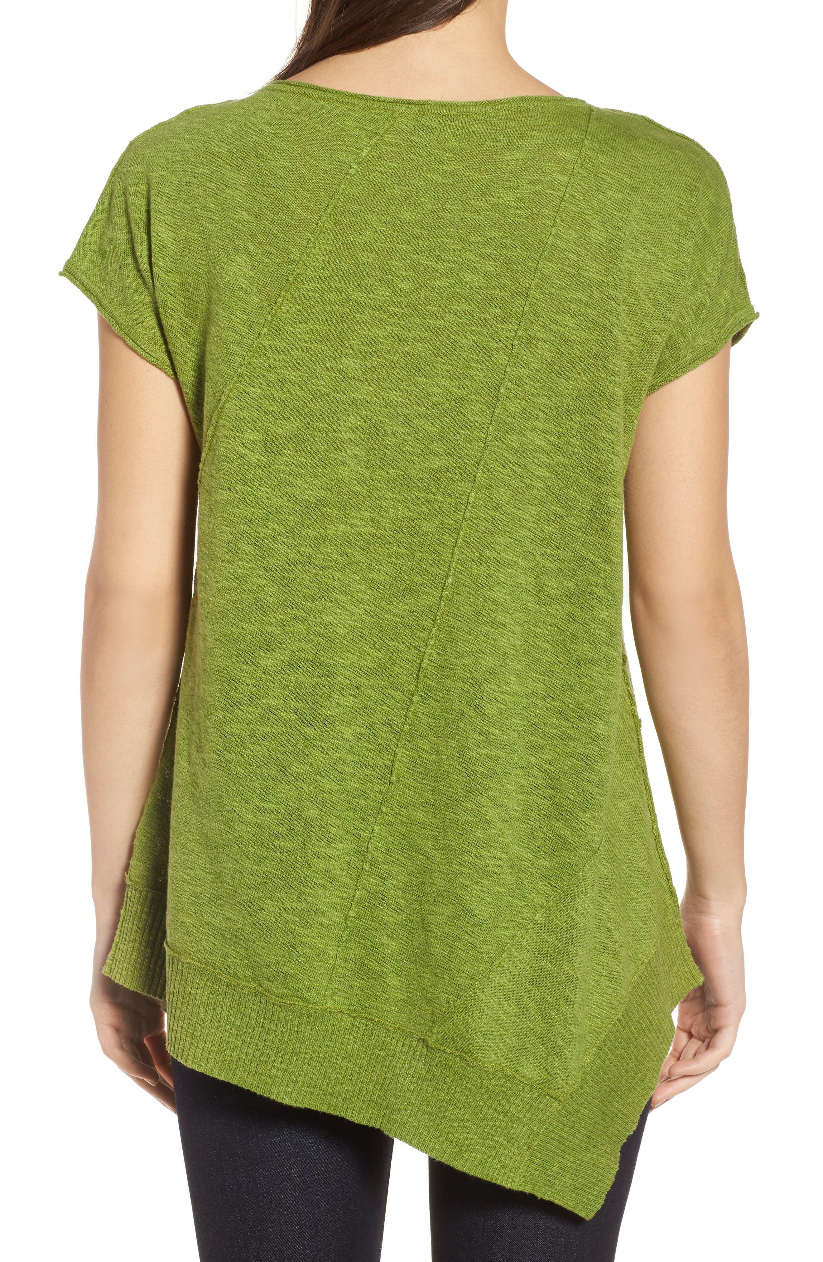 Cap Sleeve Organic Linen & Cotton Scoop Neck Top,                             Alternate thumbnail 23, color,