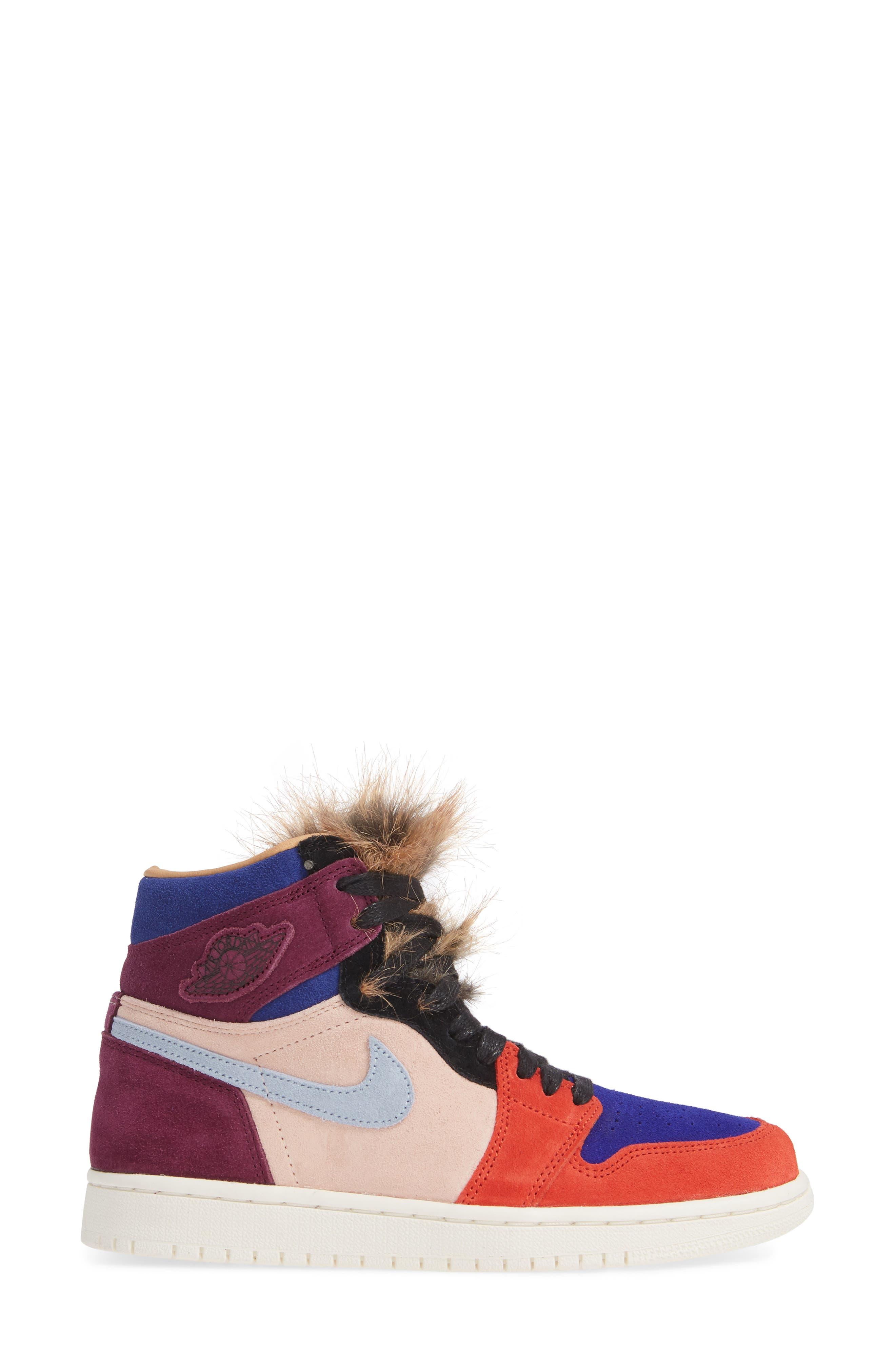 Nike Air Jordan 1 High OG Sneaker,                             Alternate thumbnail 3, color,                             600