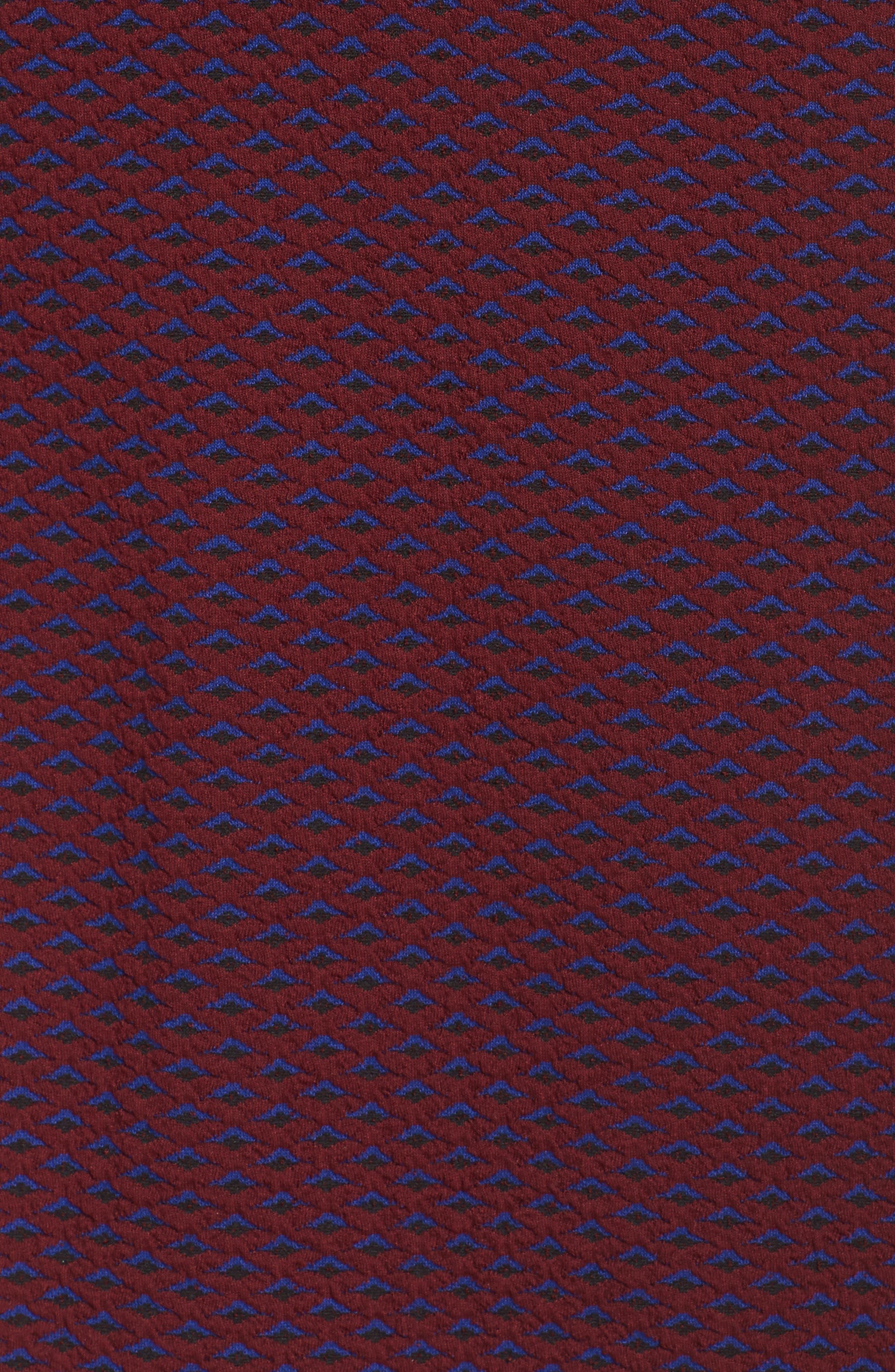 Jacquard Fit & Flare Dress,                             Alternate thumbnail 5, color,                             401