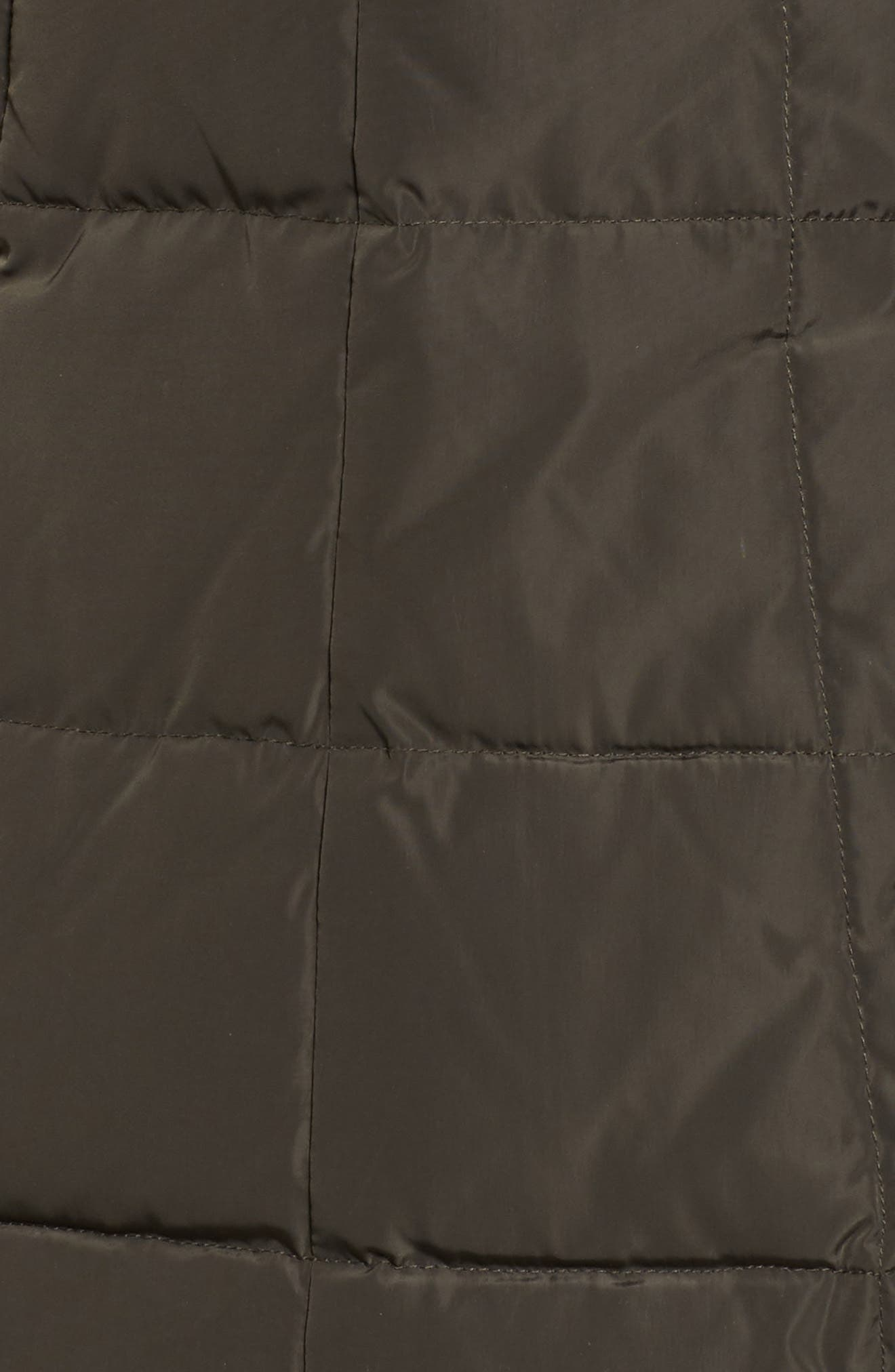 Cole Haan Bib Insert Down & Feather Fill Coat,                             Alternate thumbnail 7, color,                             FOREST