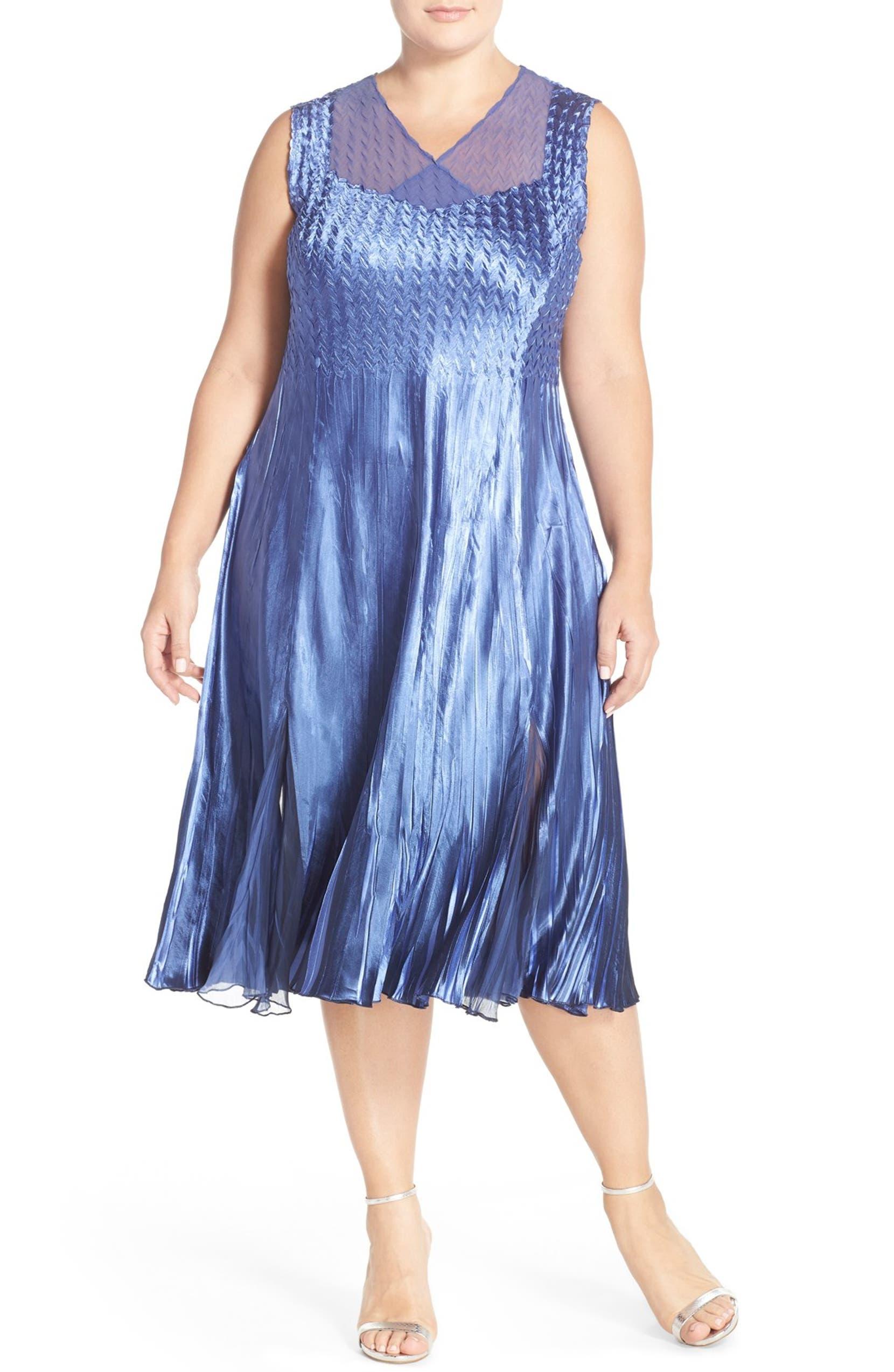 cb313327e86 Komarov Sleeveless Charmeuse Dress   Chiffon Jacket (Plus Size ...