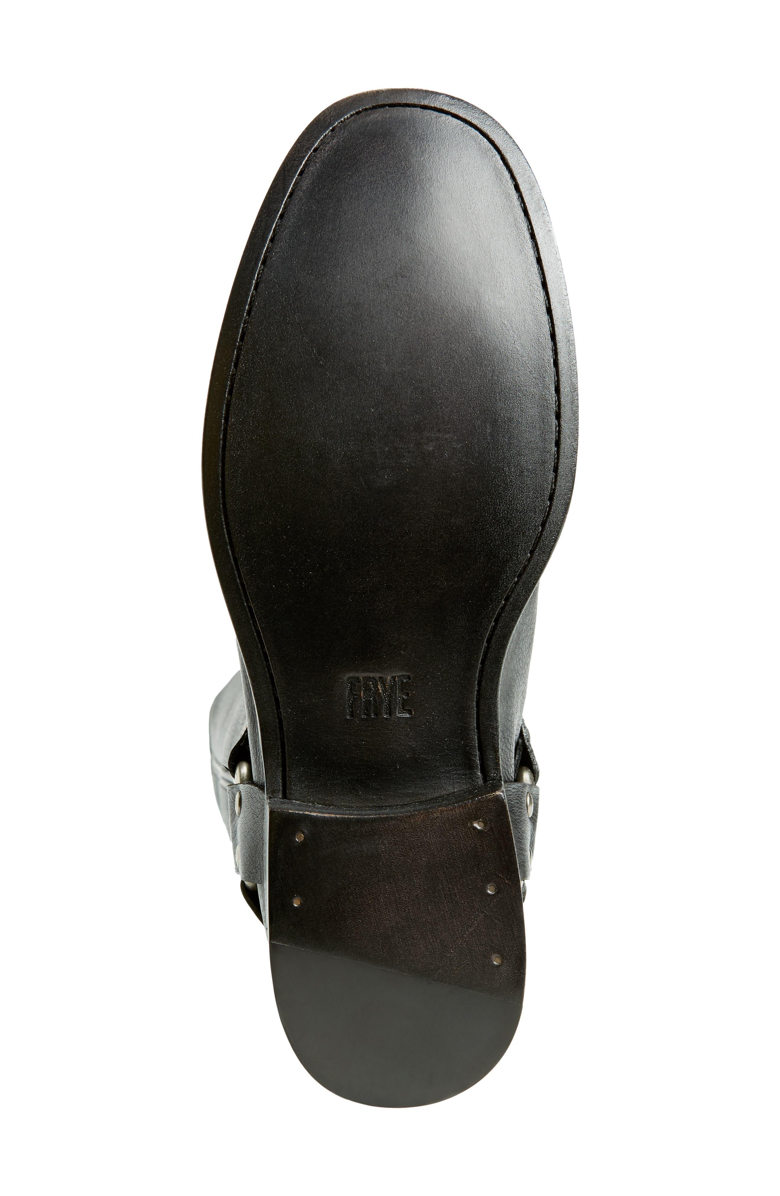 Phillip Harness Tall Boot,                             Alternate thumbnail 6, color,                             BLACK