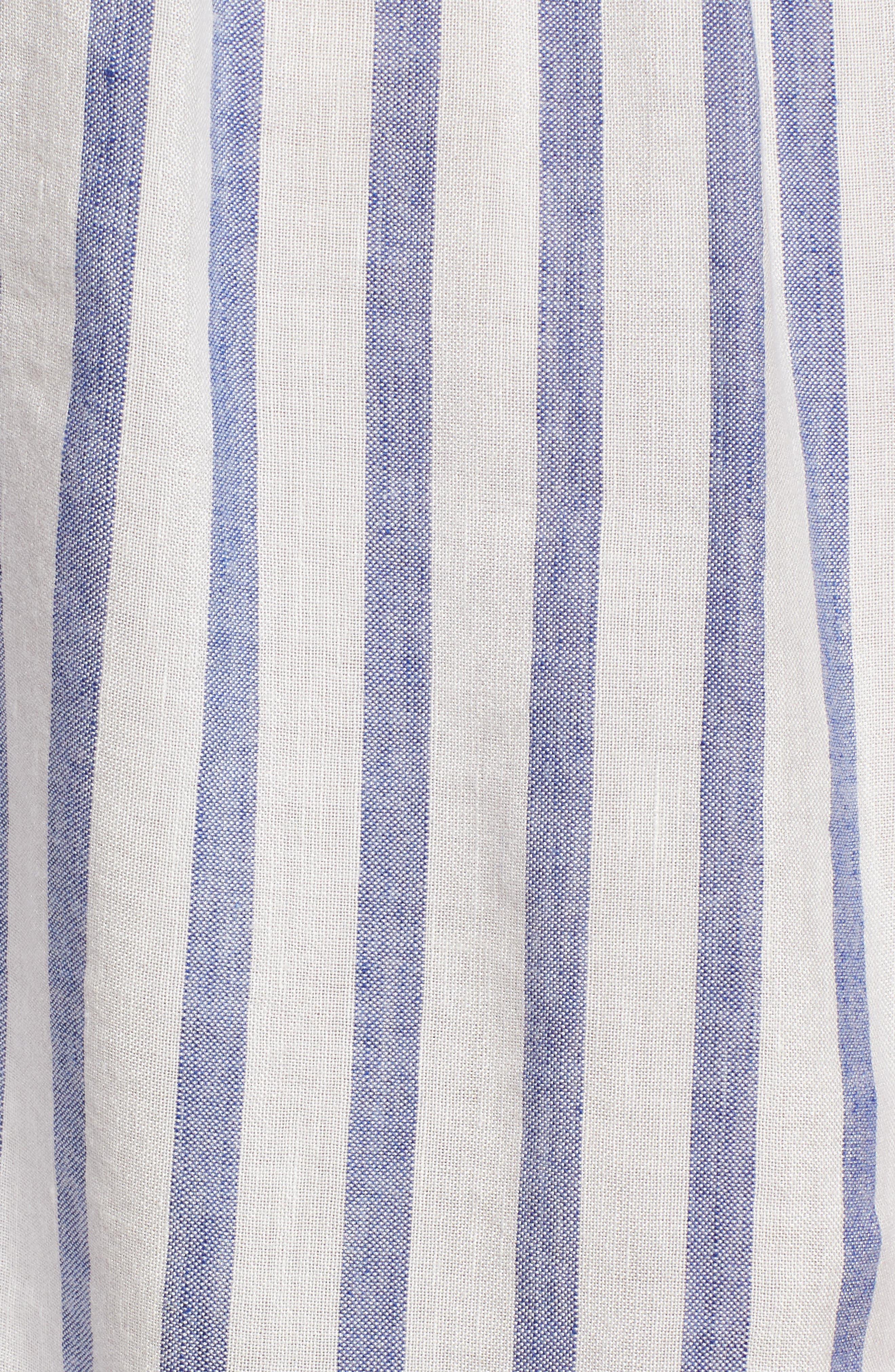 Stripe Tie Front Dress,                             Alternate thumbnail 6, color,                             GRENADINES STRIPE