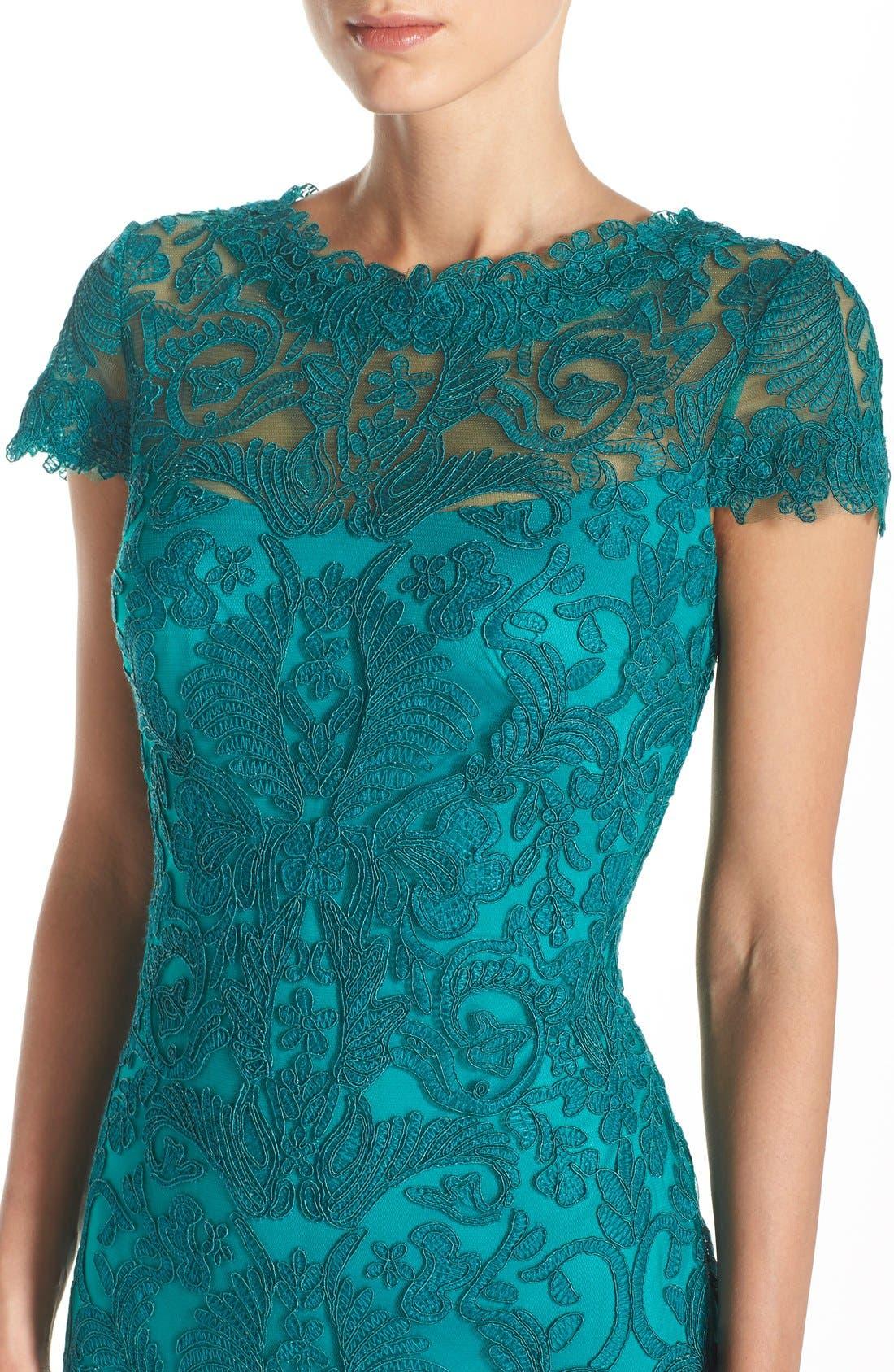 Illusion Yoke Lace Sheath Dress,                             Alternate thumbnail 95, color,