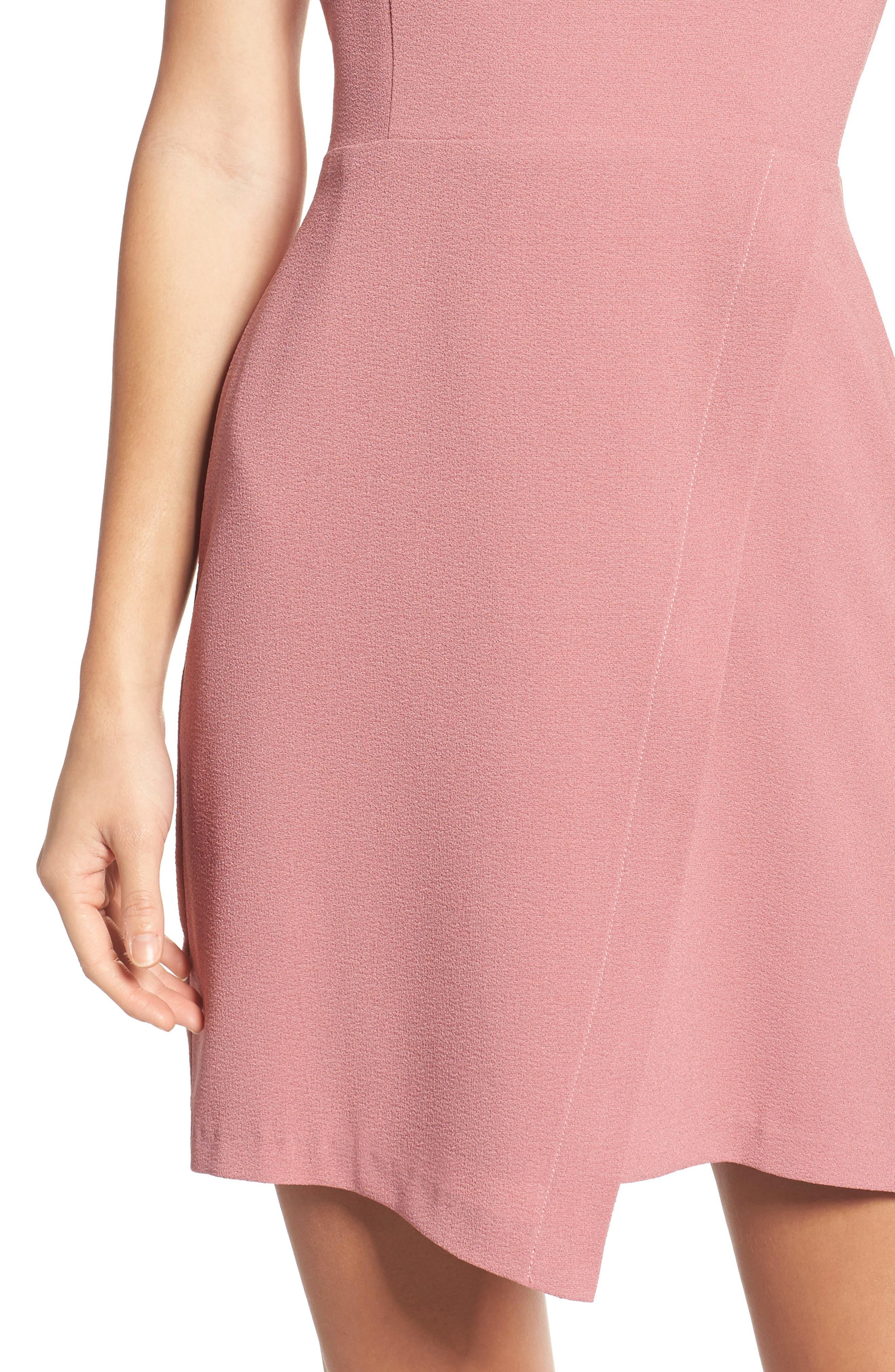Faux Wrap Dress,                             Alternate thumbnail 4, color,                             533