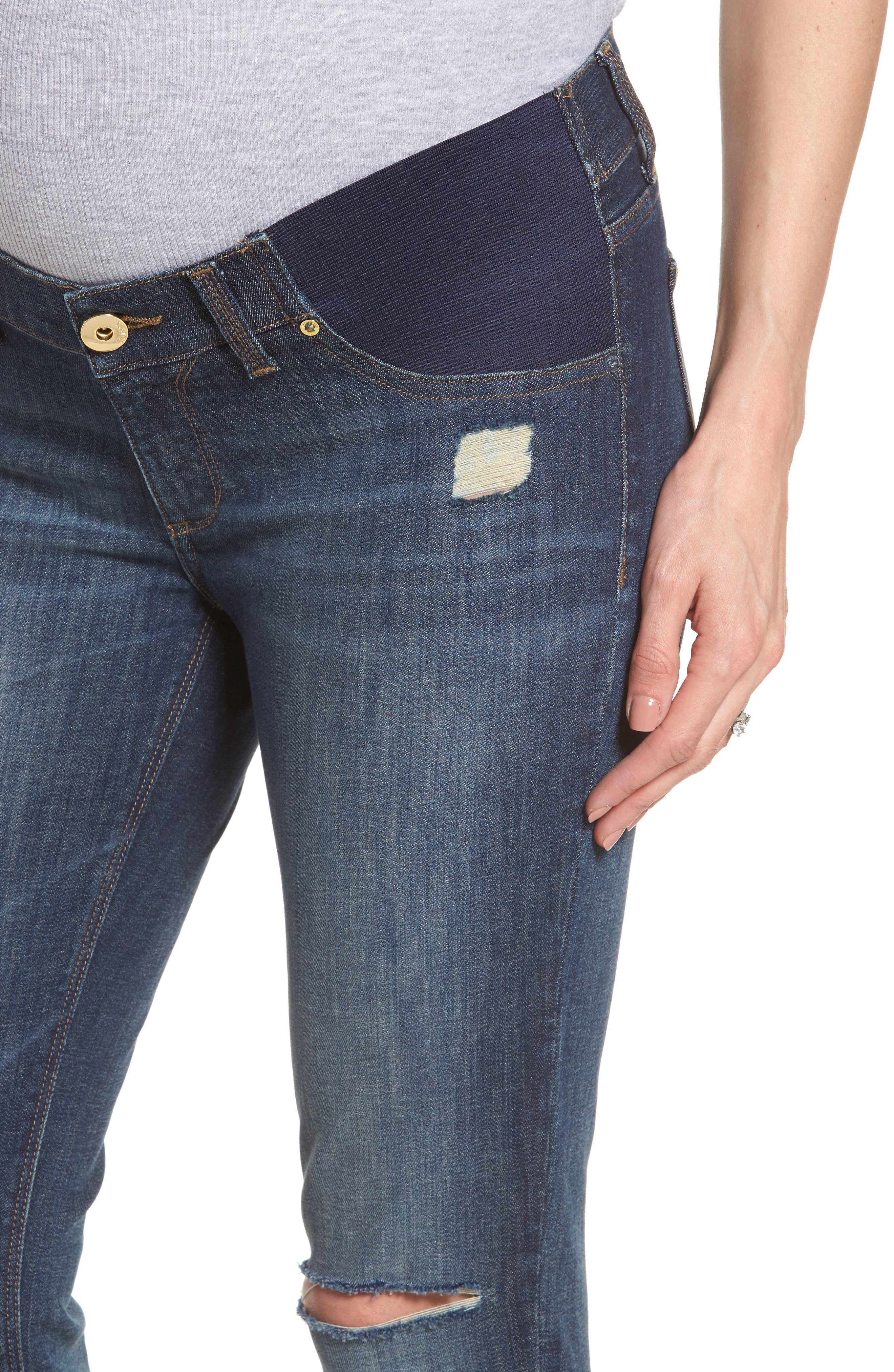 Emma Power Legging Maternity Jeans,                             Alternate thumbnail 4, color,                             405