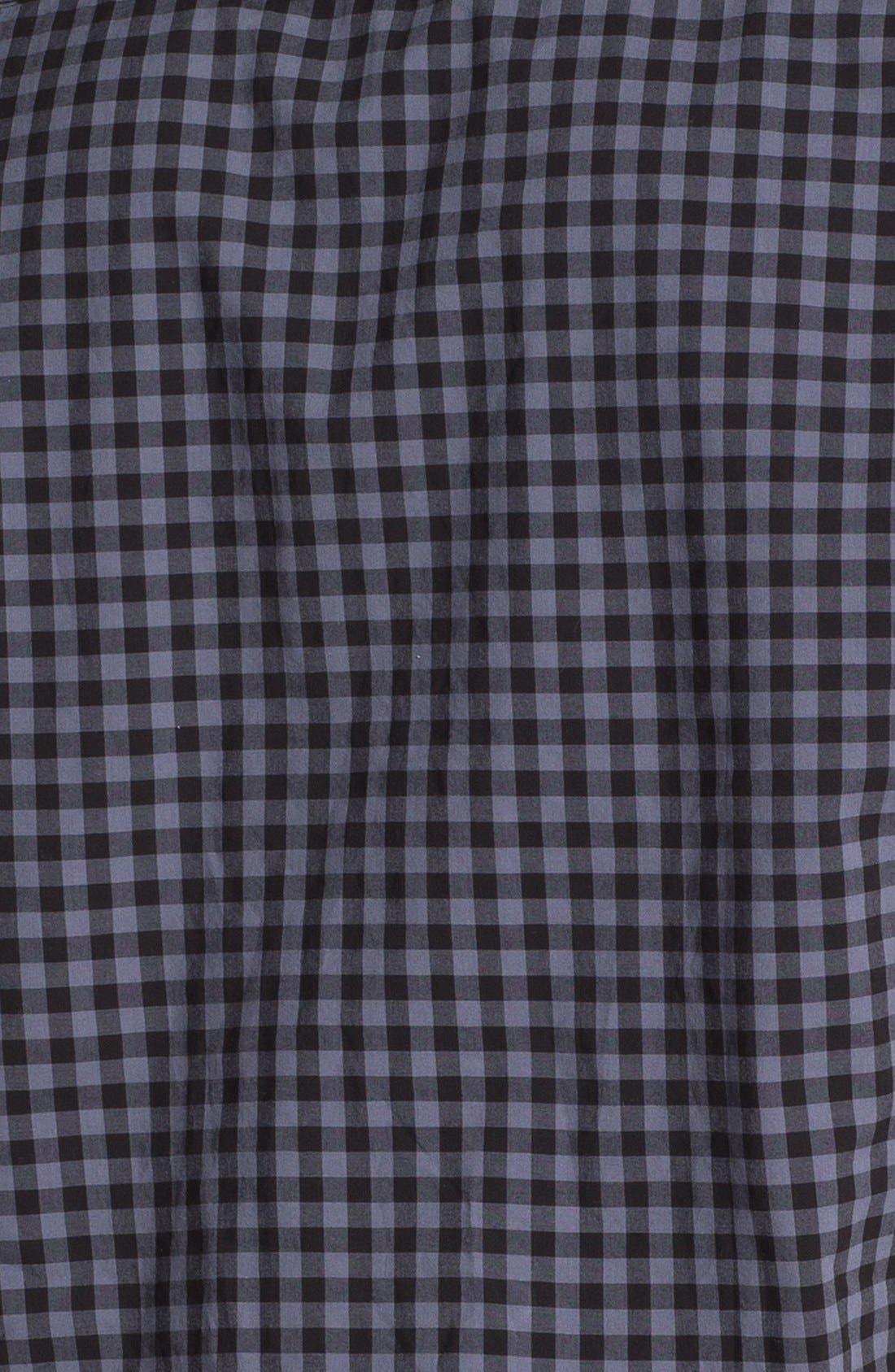 Plaid Short Sleeve Woven Shirt,                             Alternate thumbnail 3, color,                             001