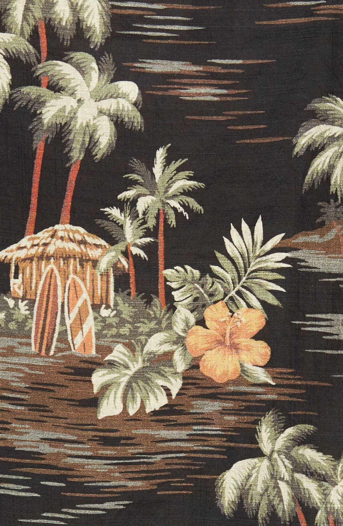 Wallace & Barnes Regular Fit Tropical Print Sport Shirt,                             Alternate thumbnail 5, color,                             001